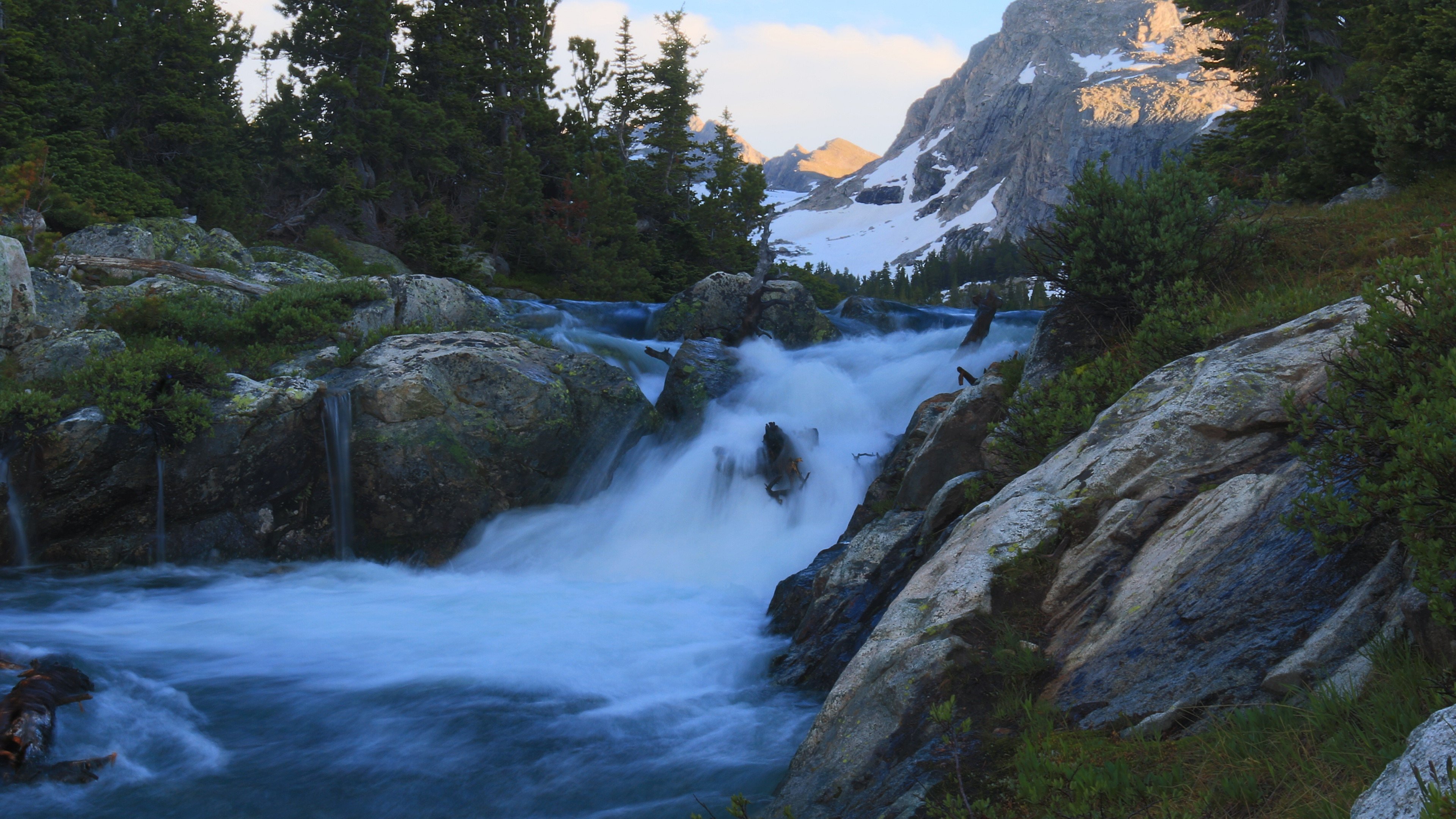 3840x2160  wallpaper Wyoming, river, waterfall, nature, Yellowstone National  Park