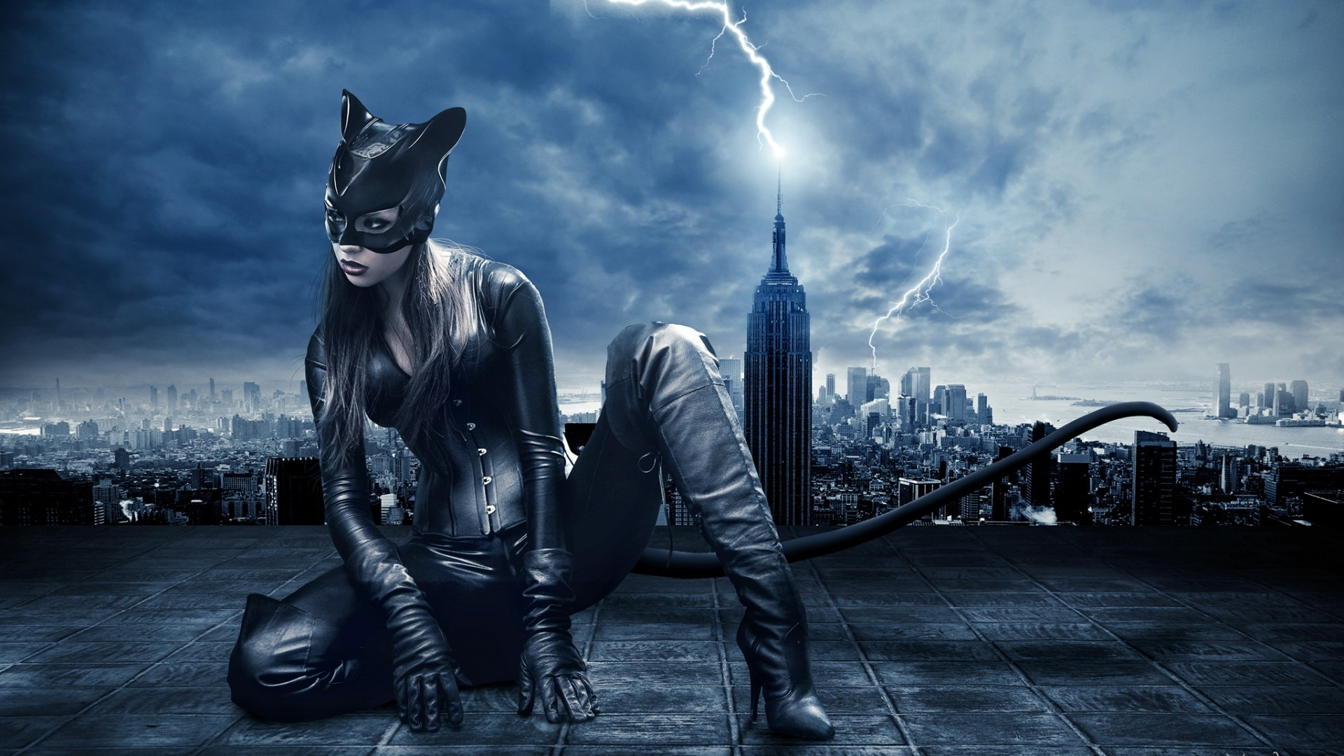 1920x1080 Preview Wallpaper Catwoman Batman Dc Comics