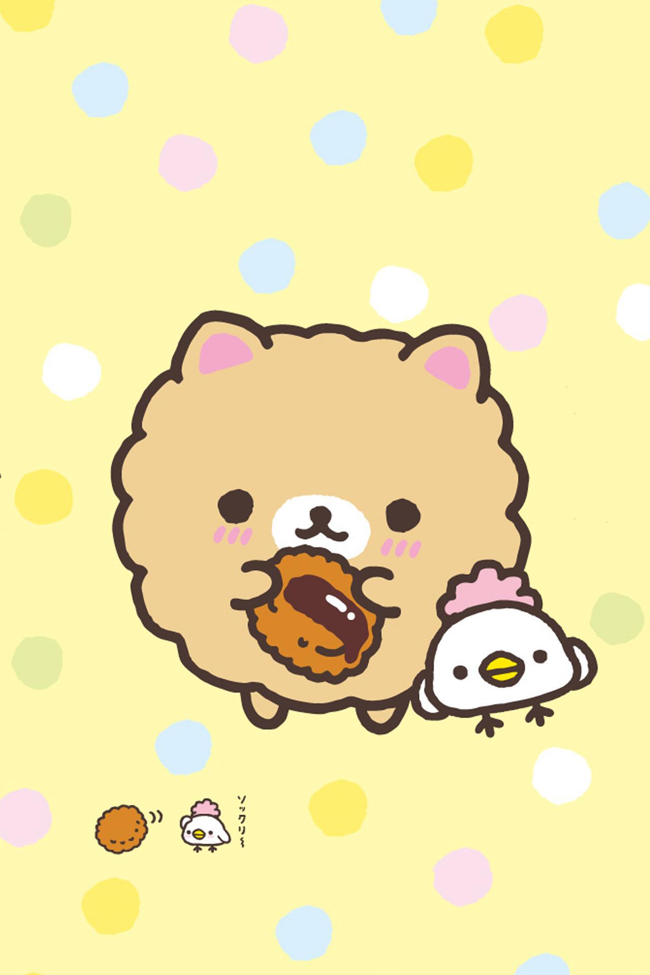 1280x2272 Molang Bunny With Kawaii Food