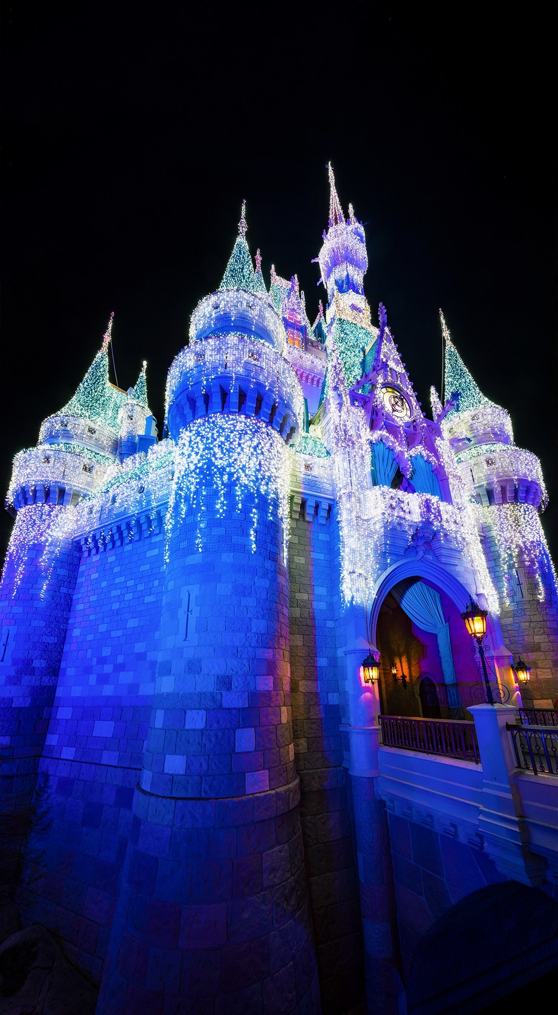 1100x2000 cinderella-castle-dreamlights-christmas-disney-world-phone-wallpaper