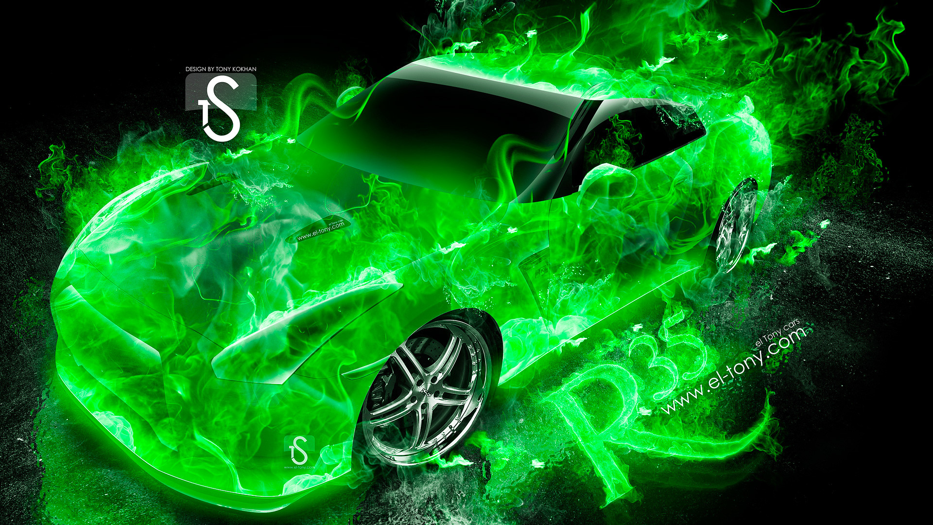 cool green fire backgrounds wwwpixsharkcom images