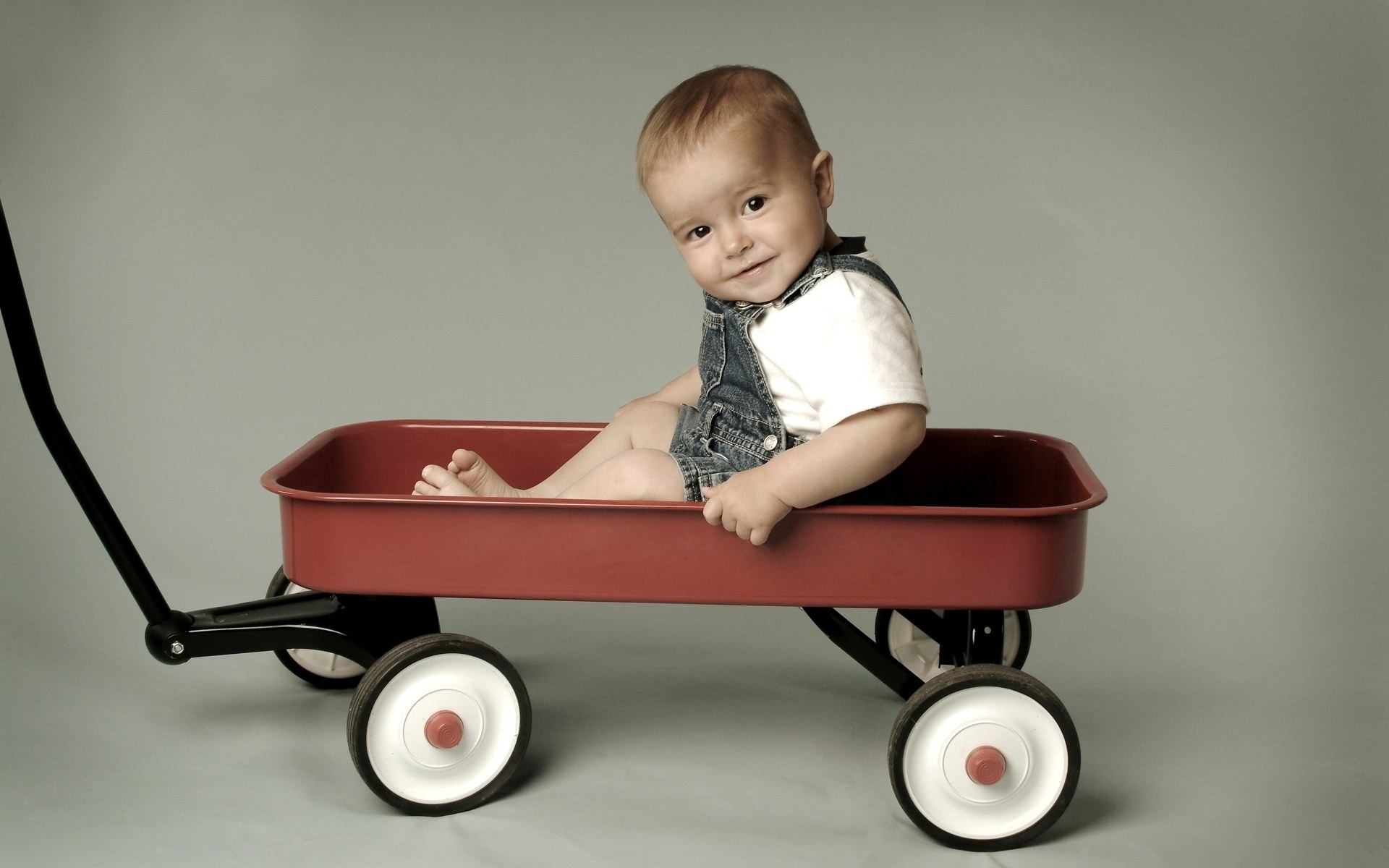 1920x1200  Wallpaper cart, baby, funny, child