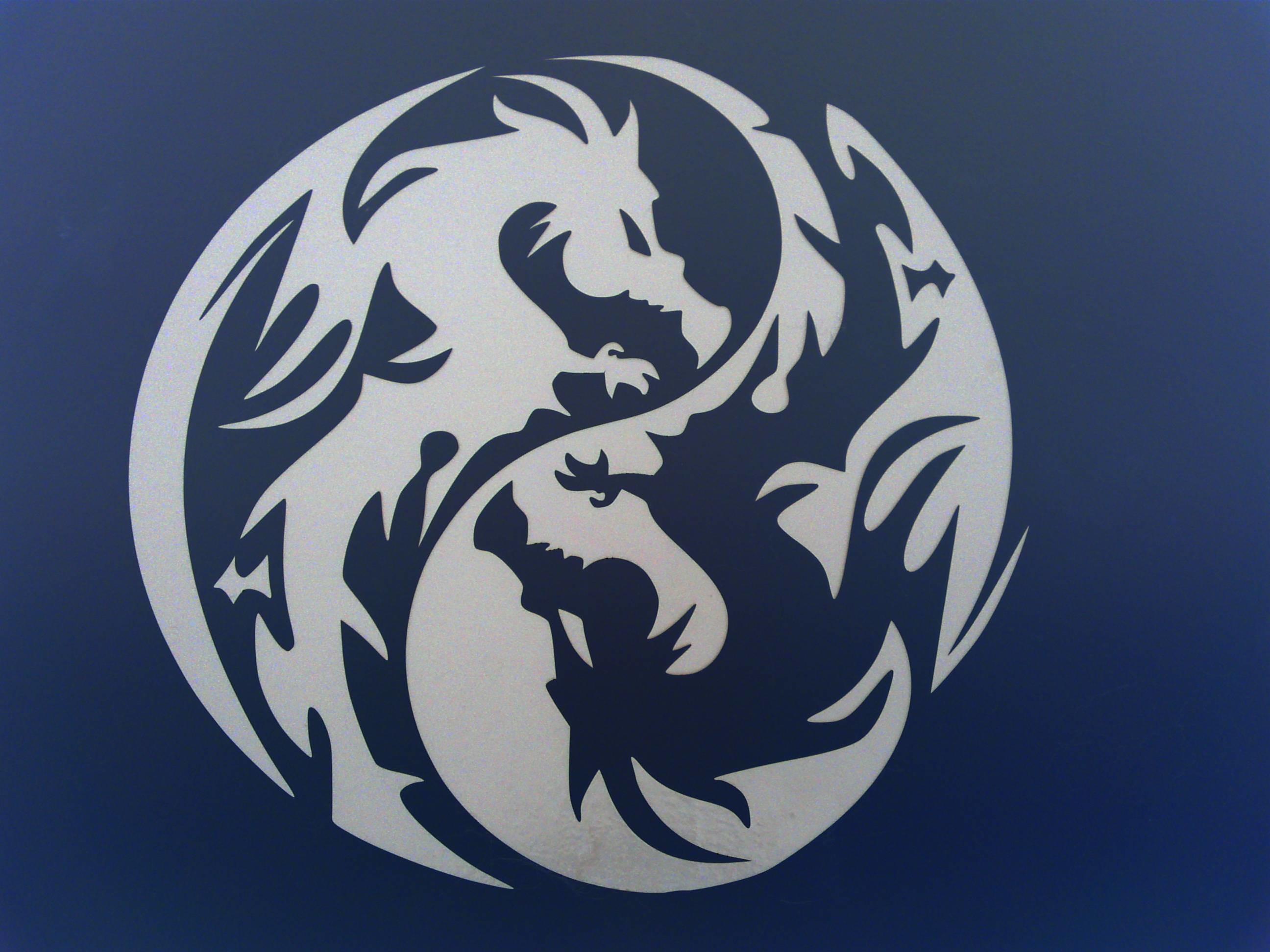 yin yang dragon wallpaper  49 images Cool Vector Yin Yang Transparent