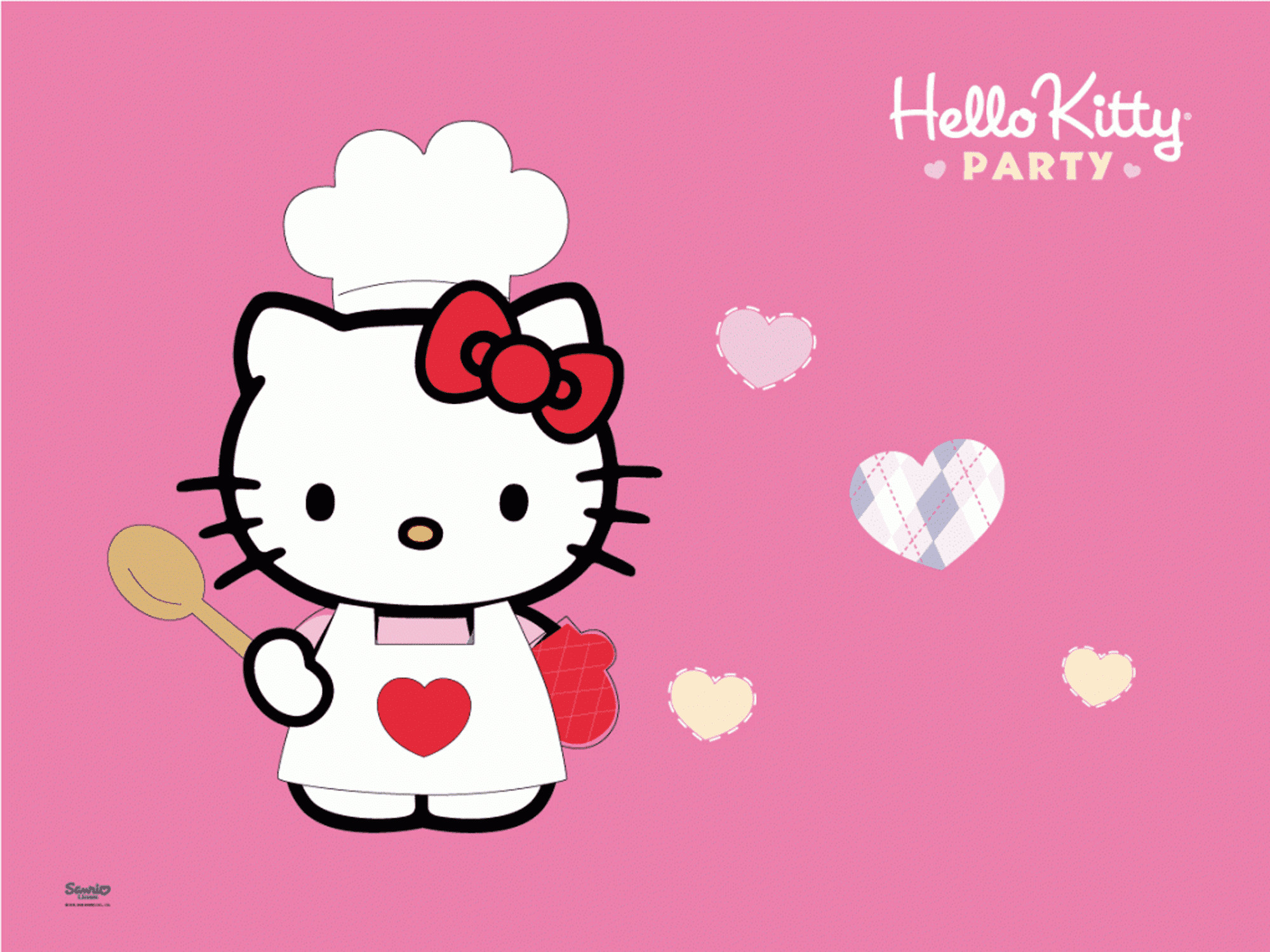 2000x1500 Screenshot of a Hello Kitty cooking party wallpaper