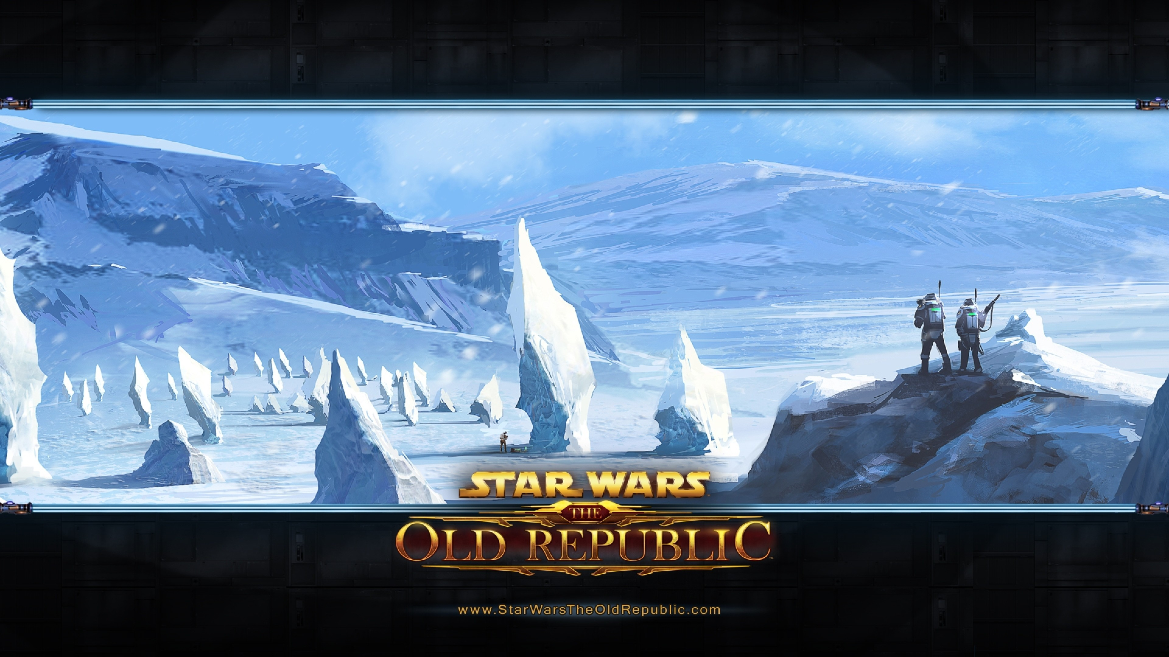 3840x2160  Wallpaper star wars the old republic, cold, snow, mountains