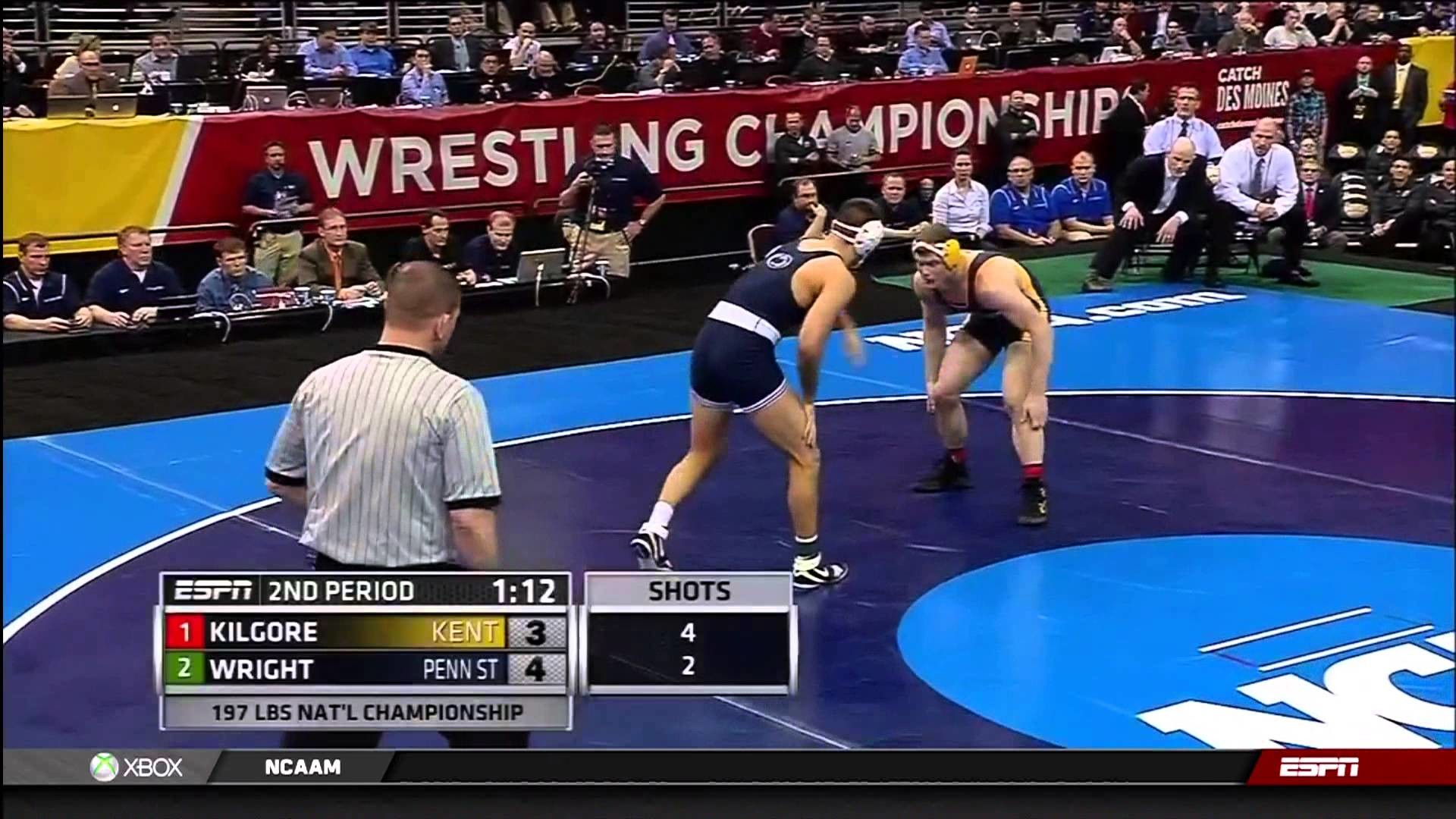1920x1080 2013 NCAA Wrestling National Championships D1 Dustin Kilgore (Kent St.) vs.  Quentin Wright (PSU) - YouTube
