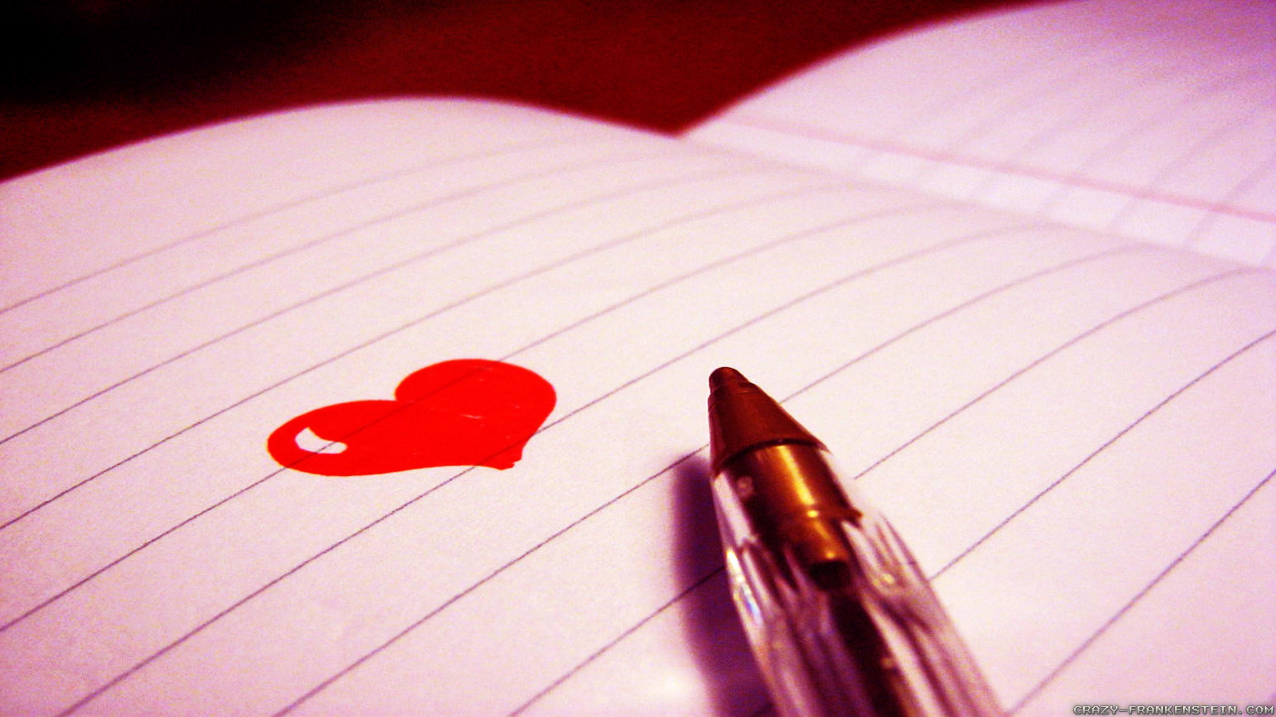 Love writing wallpaper