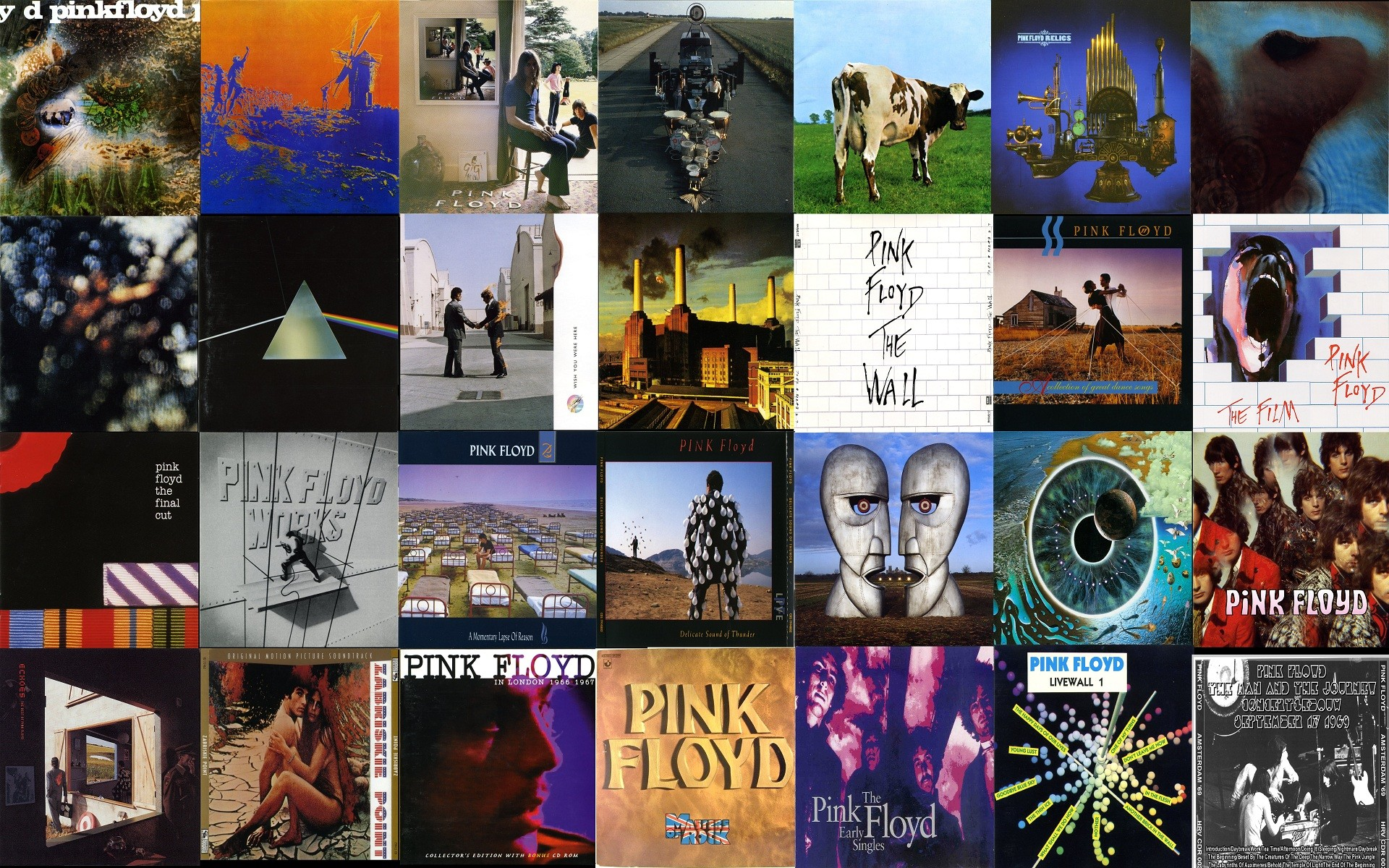 Pink Floyd Album Covers Wallpaper (68+ images)