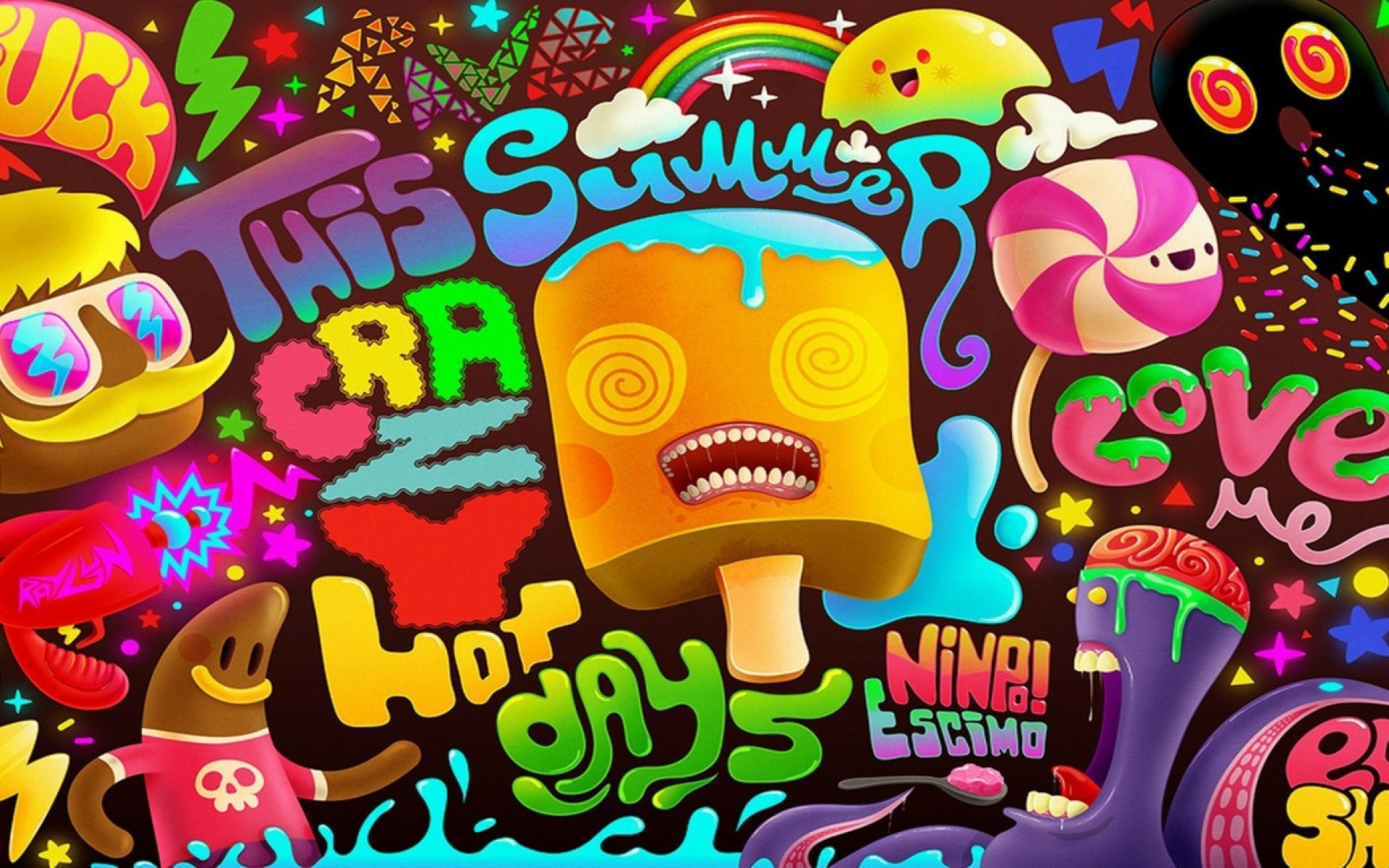 1920x1200 Psychedelic,Cat,Hipster,Glasses,Mustache. Psychedelic Facebook Cover  Wallpaper