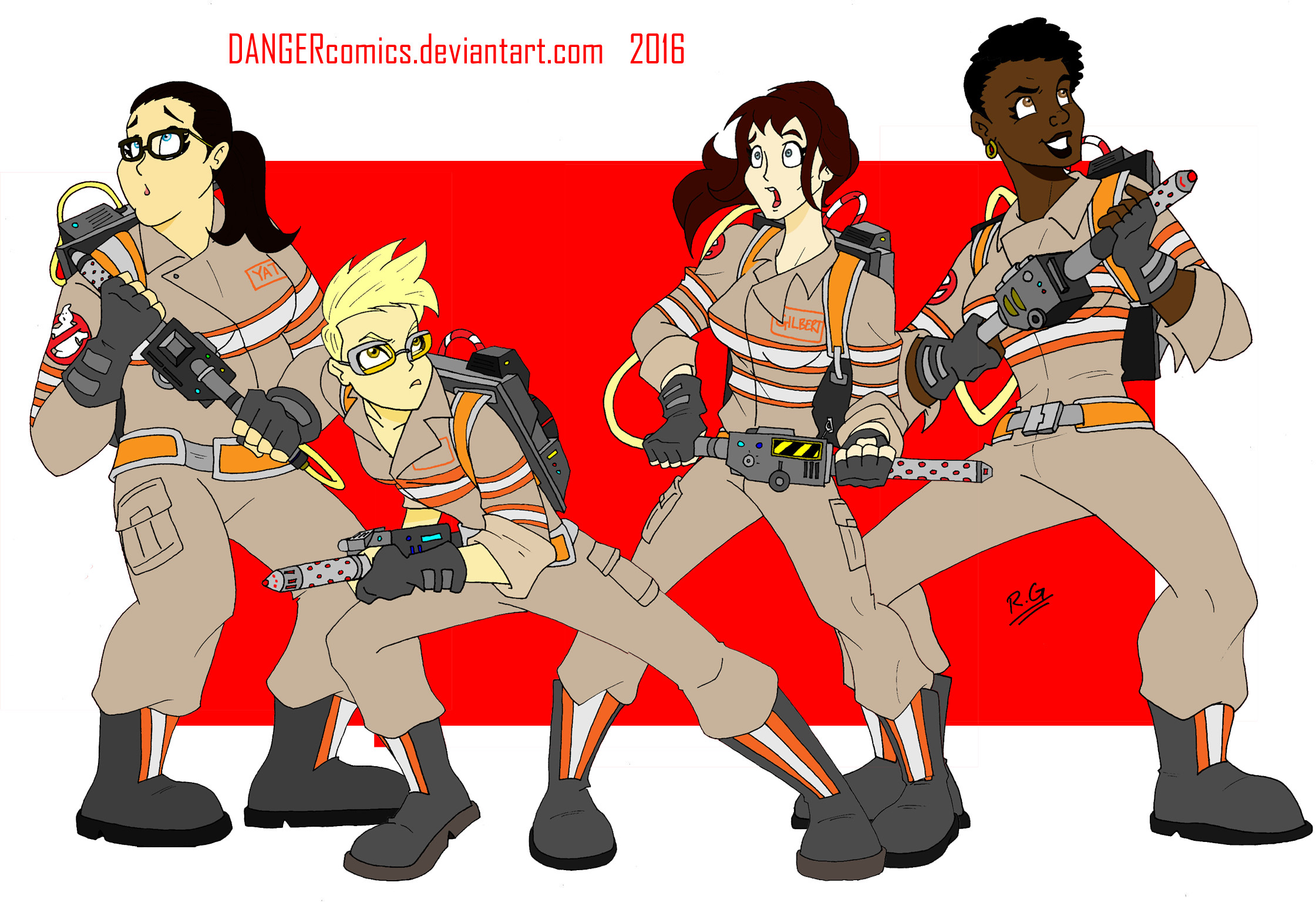 2241x1538 Ghostbusters 2016 by DANGERcomics