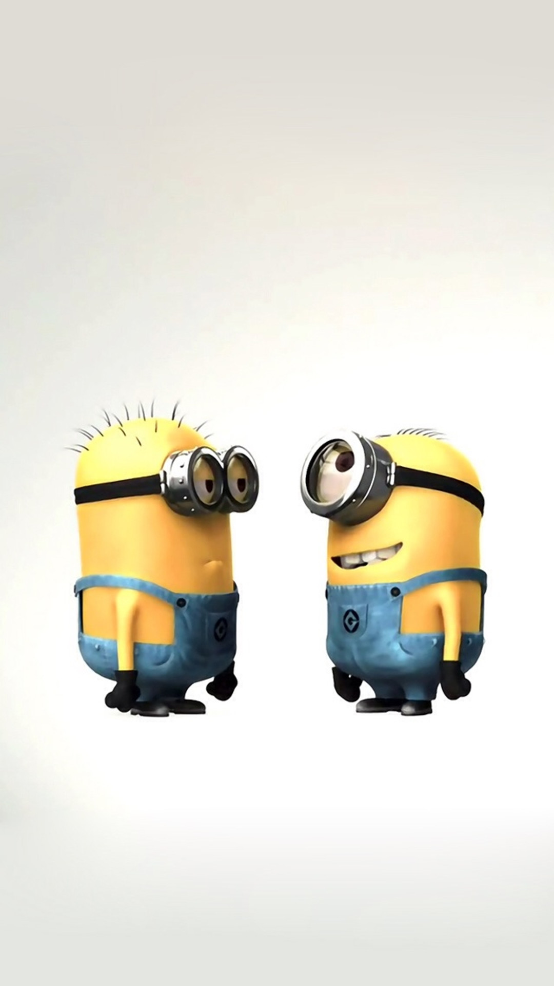 1080x1920 Funny Cute Lovely Minion Couple iPhone 8 wallpaper