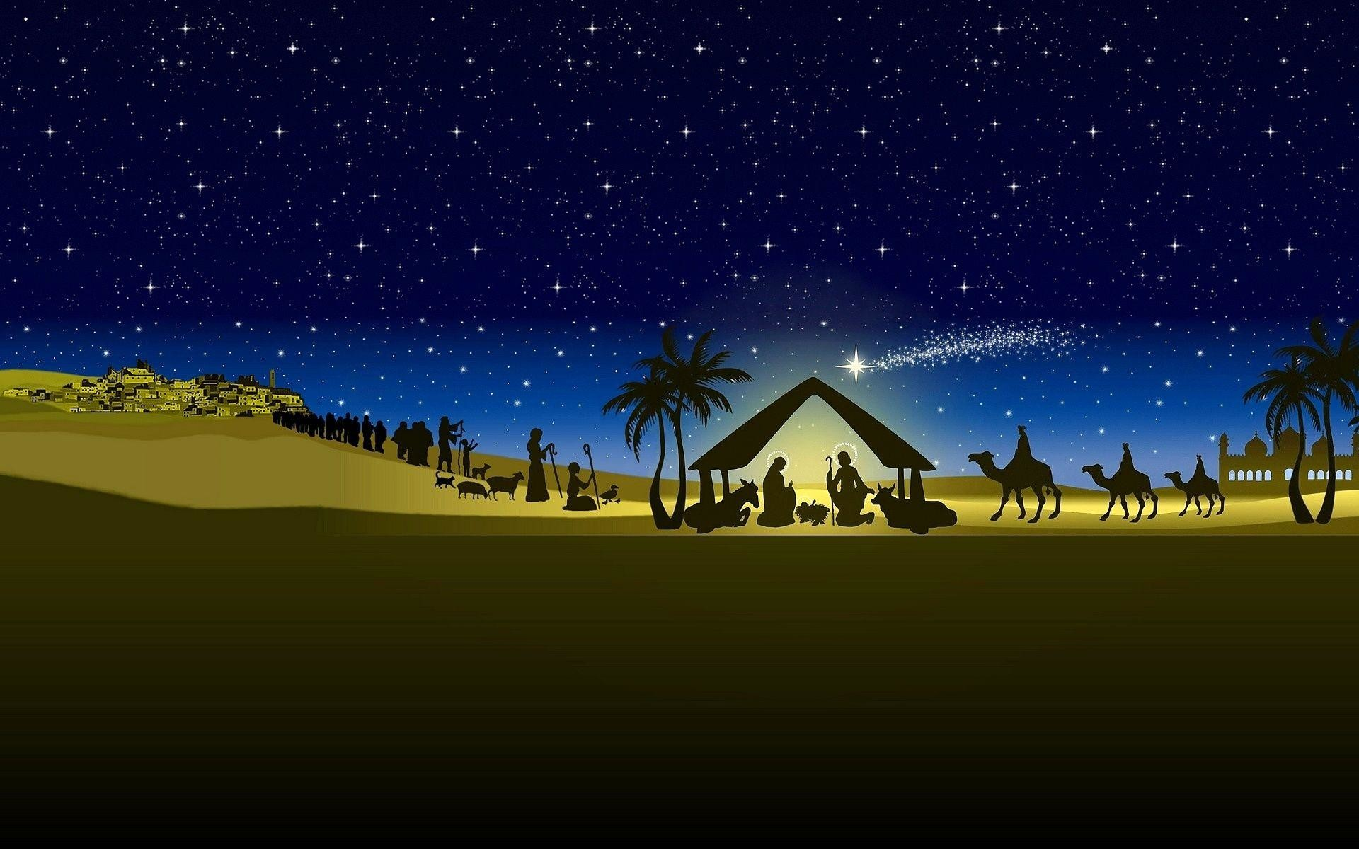 1920x1200 Wallpapers For Christmas Nativity Wallpaper Hd