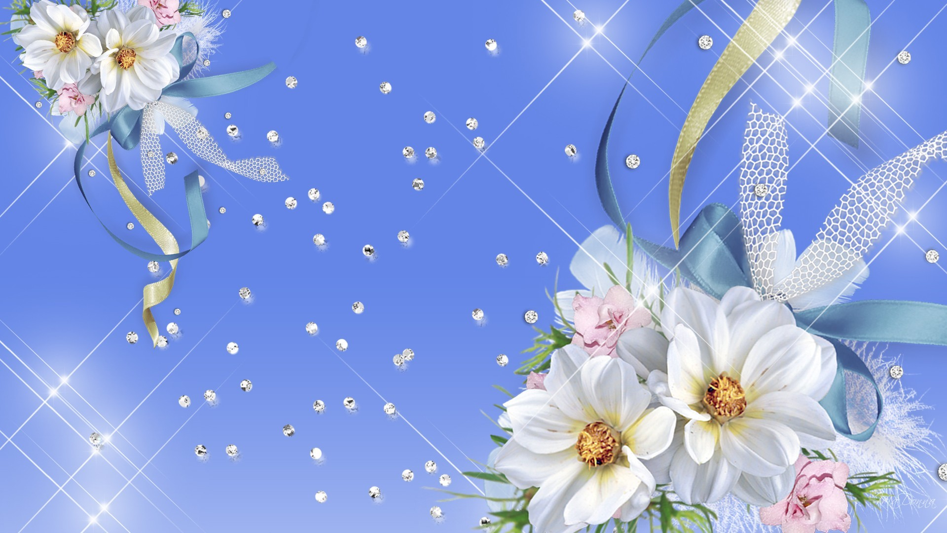 1920x1080 ... blue and white flower wallpaper flowers ideas ...