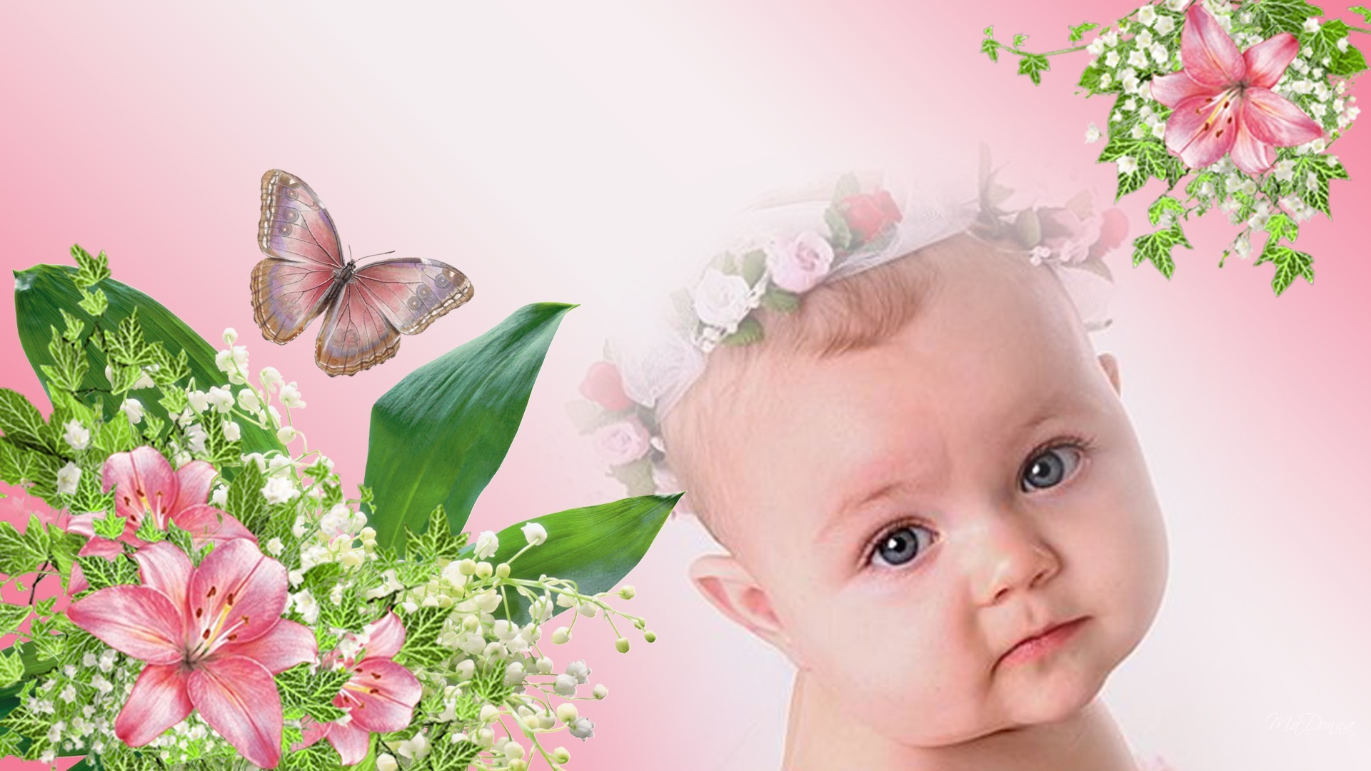 1920x1080 View Cute Angel Baby Girl Picture Wallpaper in Resolution