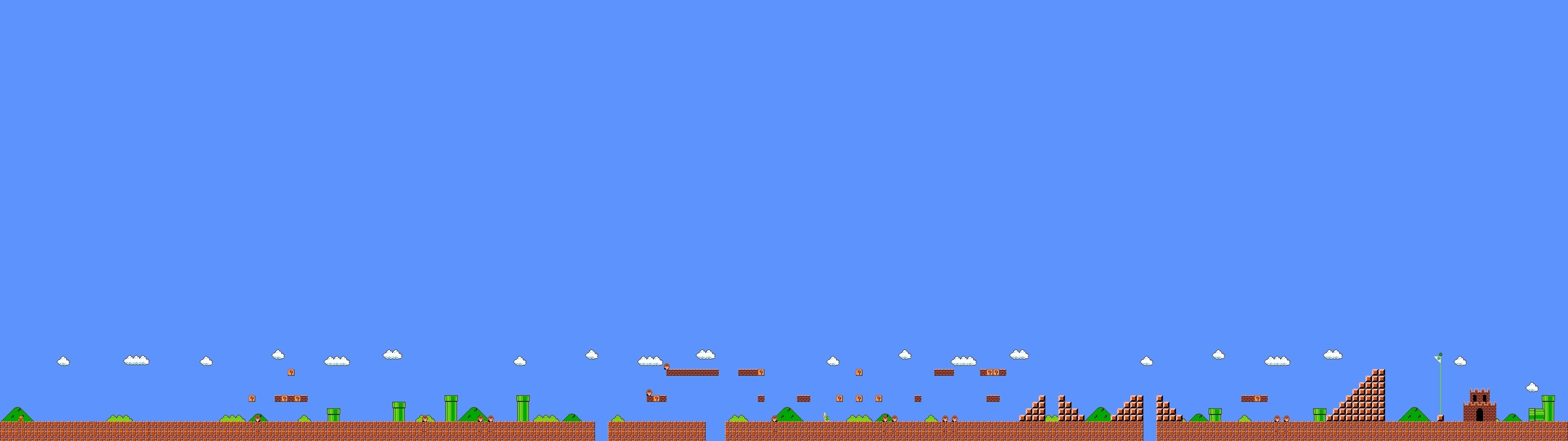 3840x1080 screen multi multiple videogame game jeu video mario bross wallpaper .