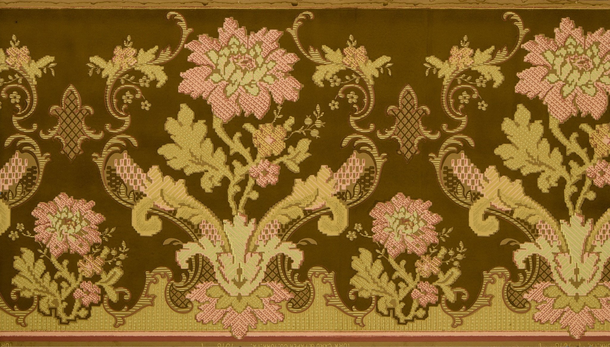 2048x1166 Conventionalized Floral Tapestry Frieze