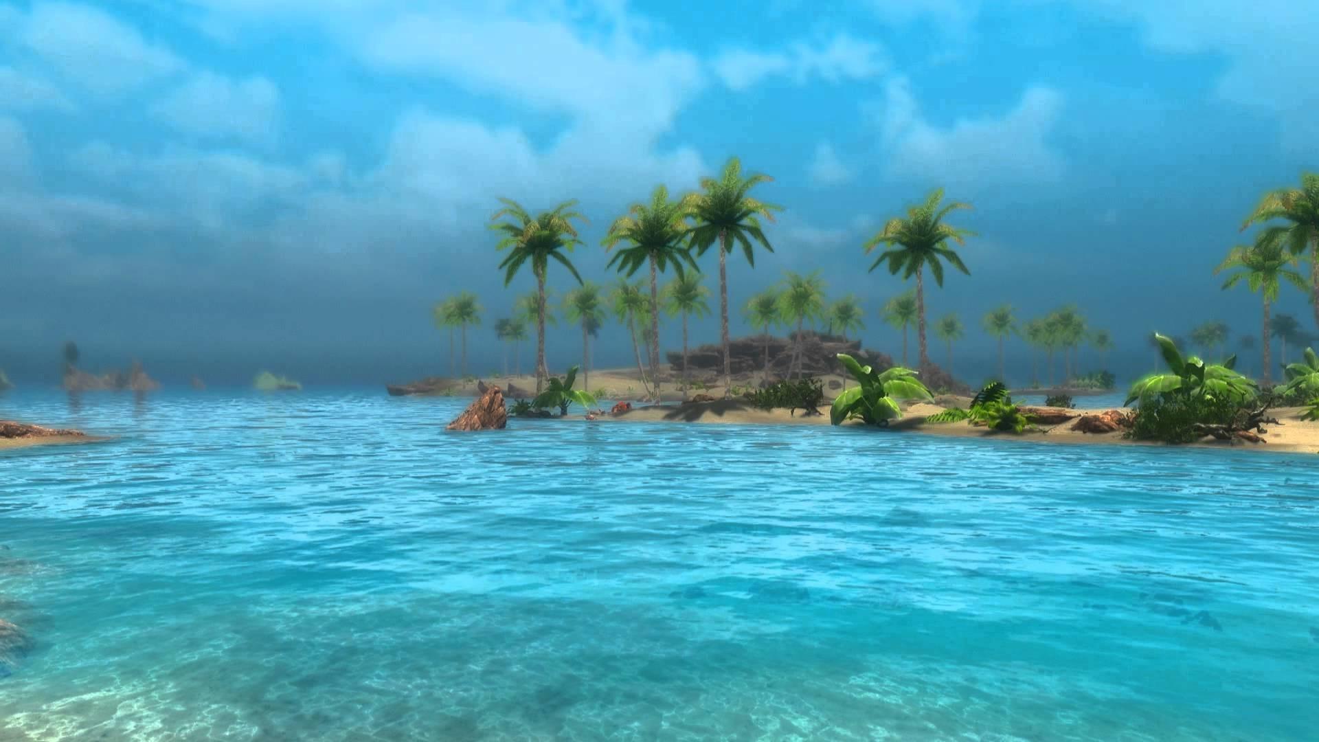 Animated Beach Scene Desktop Wallpaper: Wallpapers For Desktop Water Scenes (61+ Images
