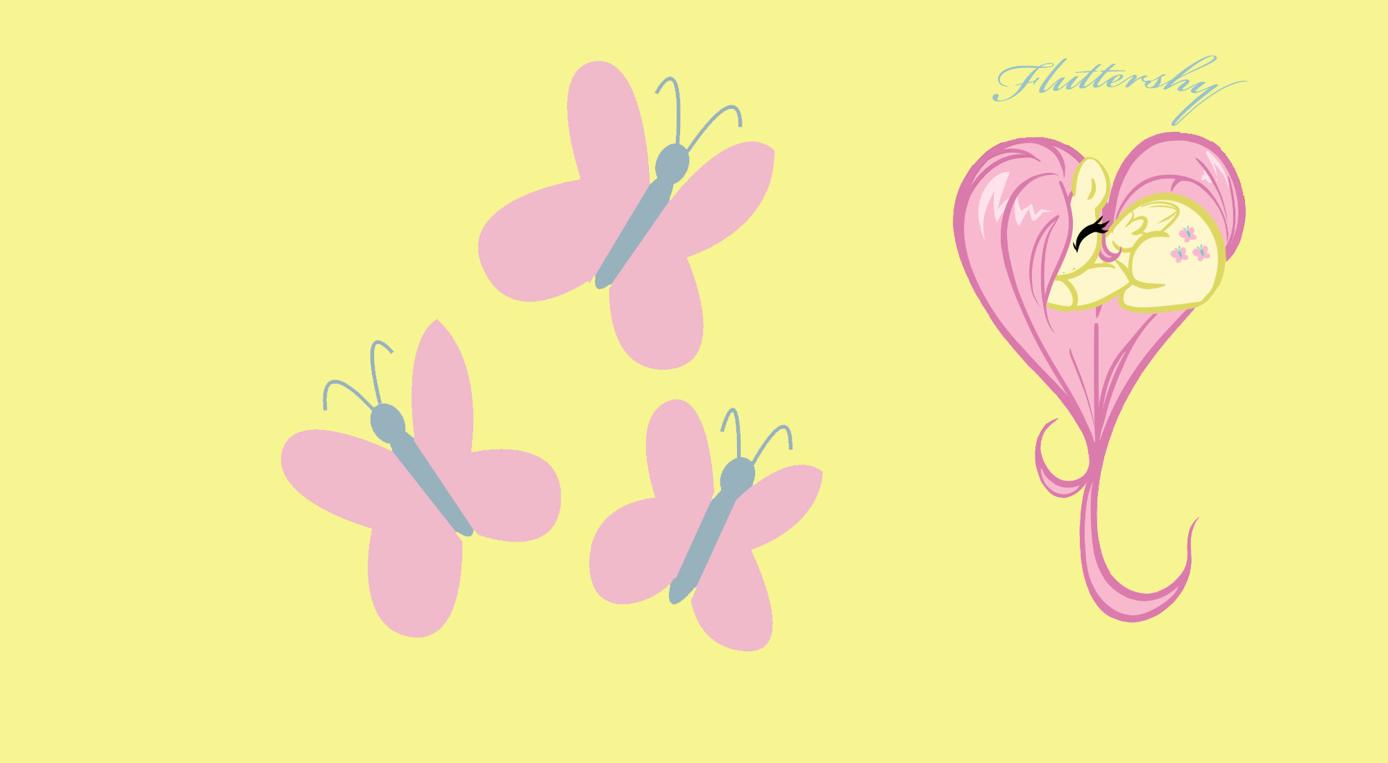 2000x1100 Fluttershy Heart Wallpaper by Keat38 on DeviantArt