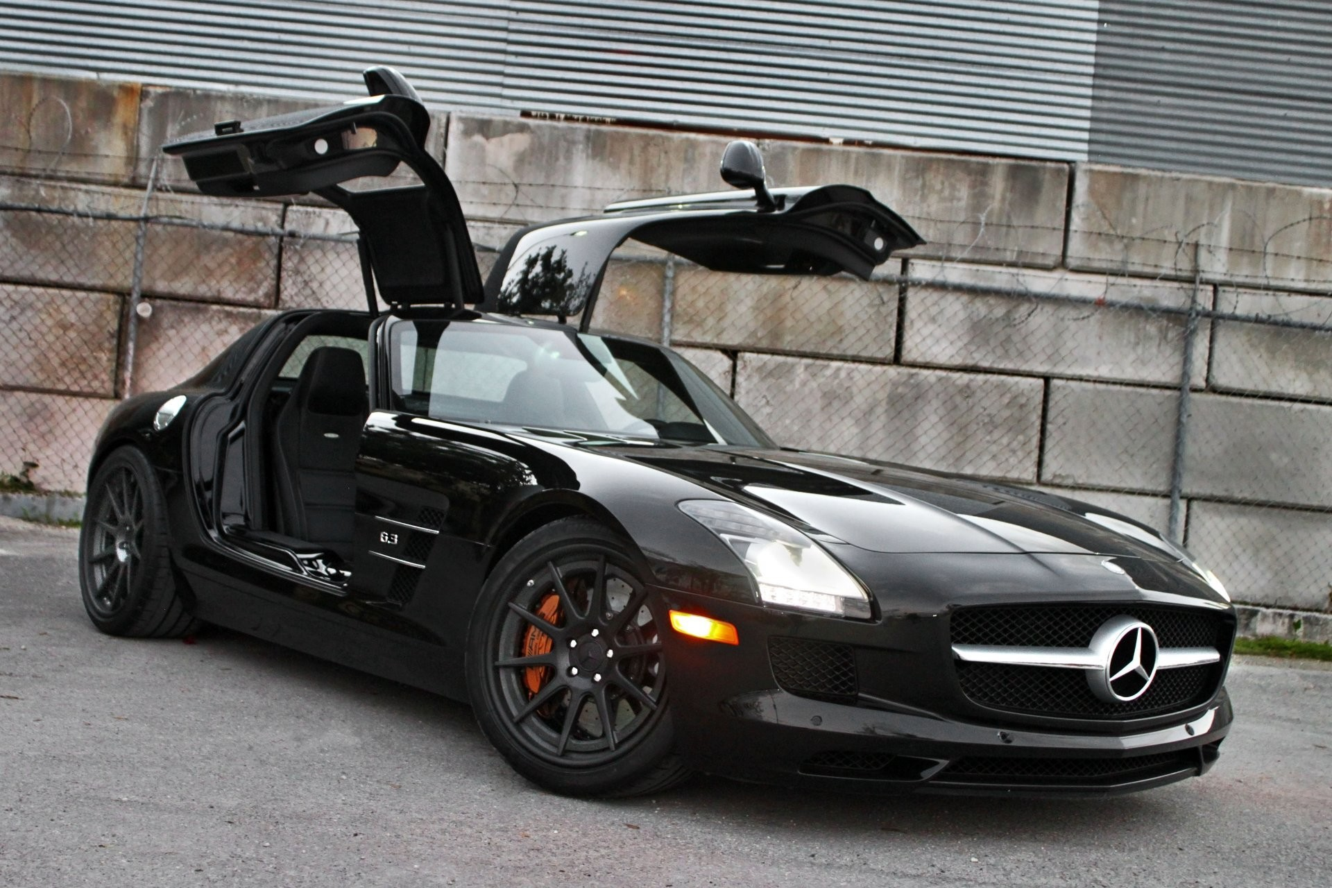1920x1280 mercedes benz sls amg black mercedes-benz view of the door gull wing fenced  kolyusaya