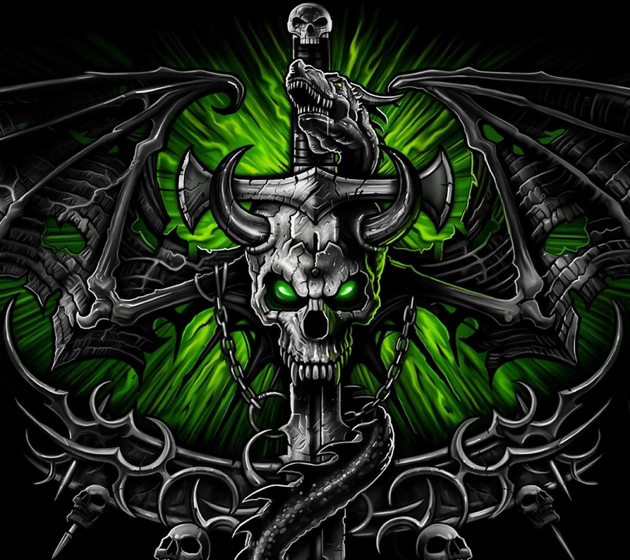 2160x1920 Green Skull Wallpapers - Wallpaper Cave. Download · 1080x1920