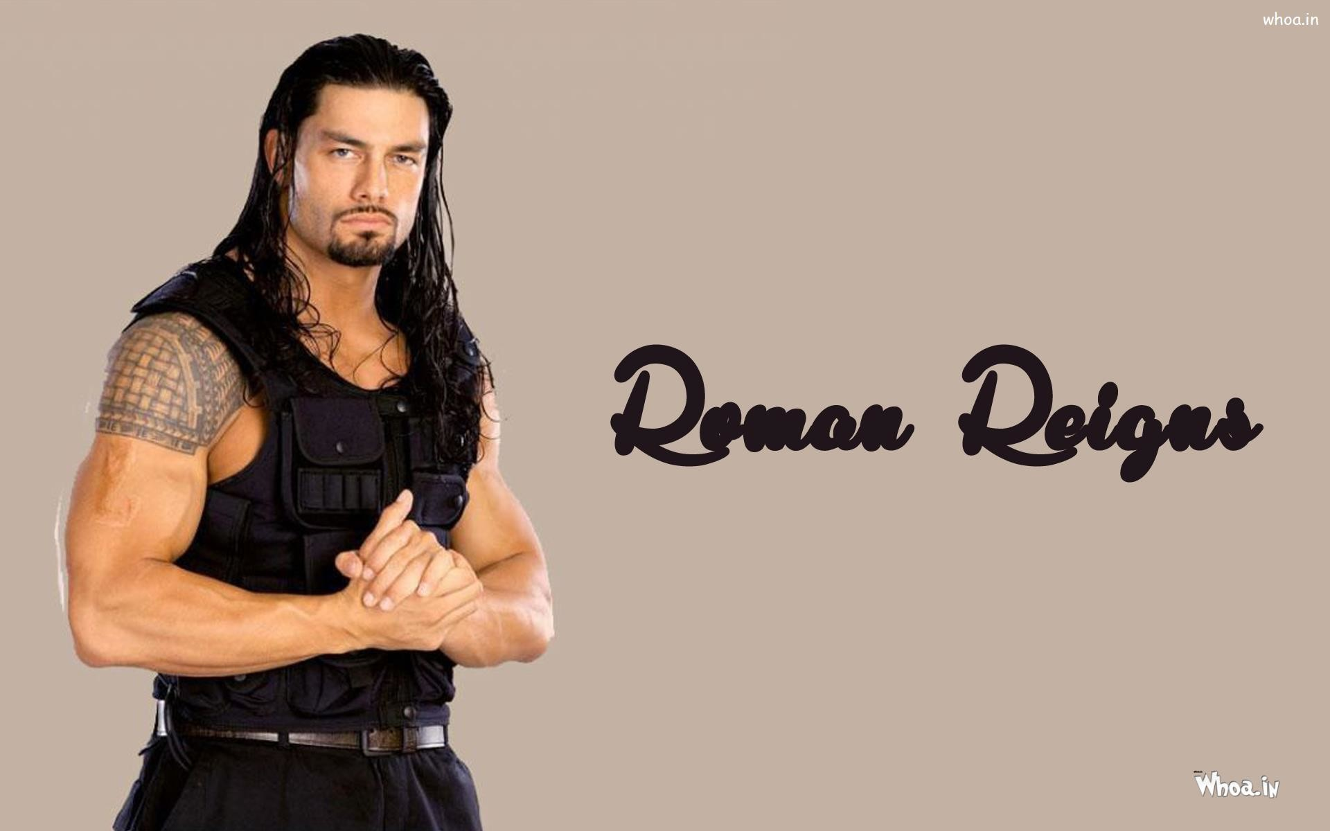 1920x1200 ... Roman Reigns in Black Jacket Wallpaper ...