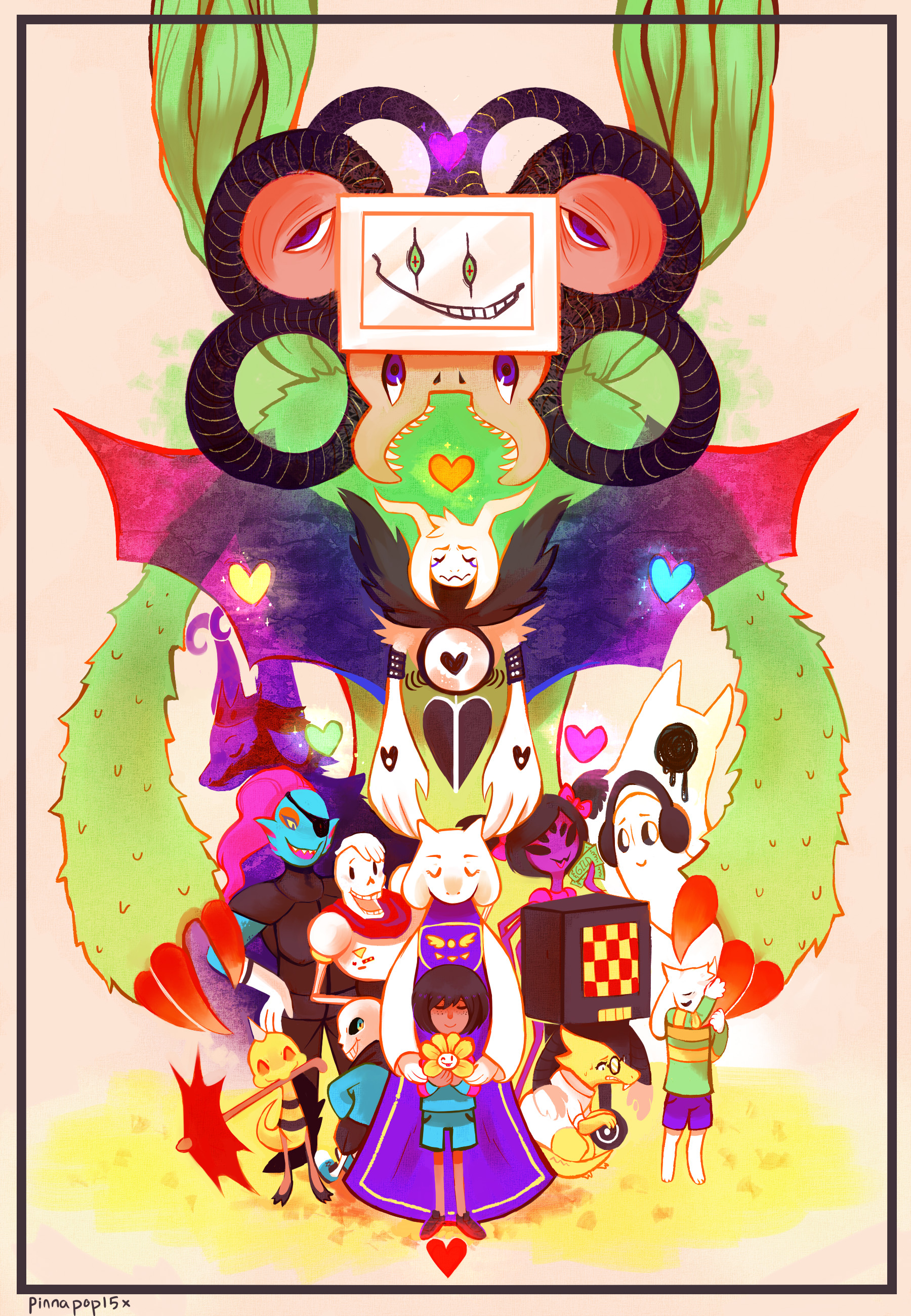 1800x2600 Undertale by Pinnapop