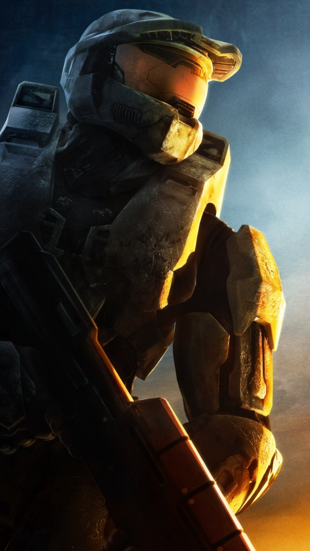 1080x1920 Preview Wallpaper Halo Soldier Sunset Gun