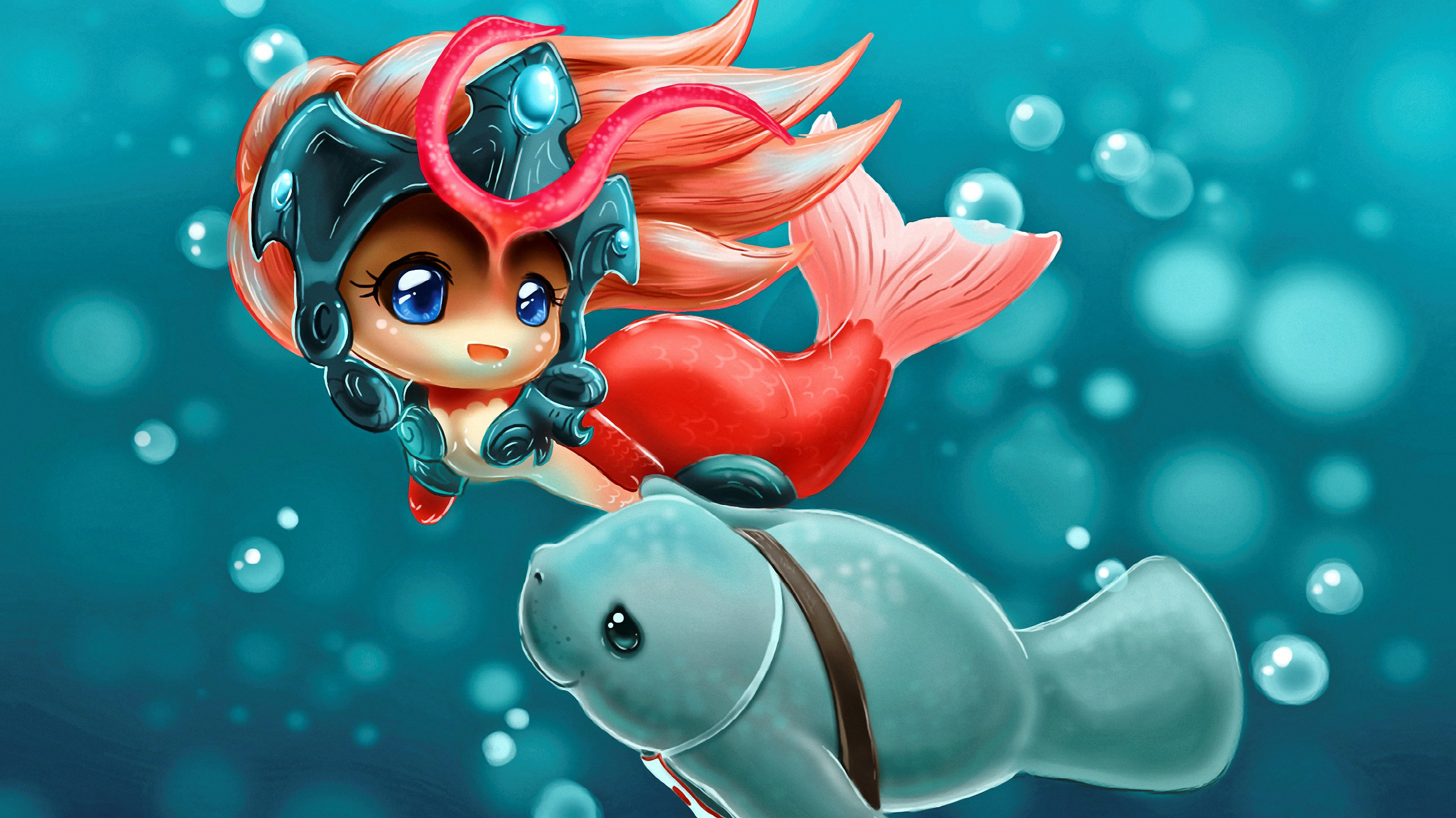 2560x1440 Computerspiel League Of Legends Nami Mermaid Anime Urf Wallpaper