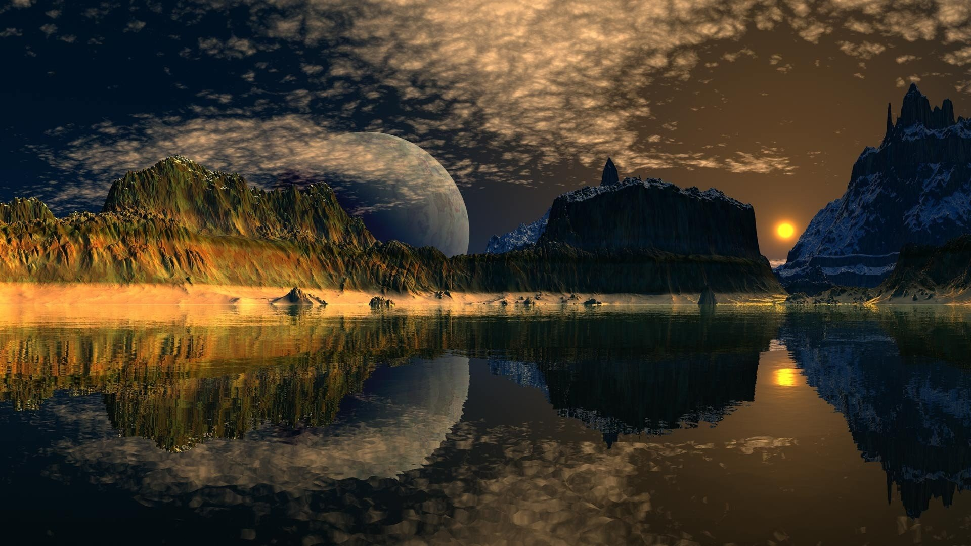 1920x1080 computer-background-cool-desktop-landscape-lake-desktops-moon-