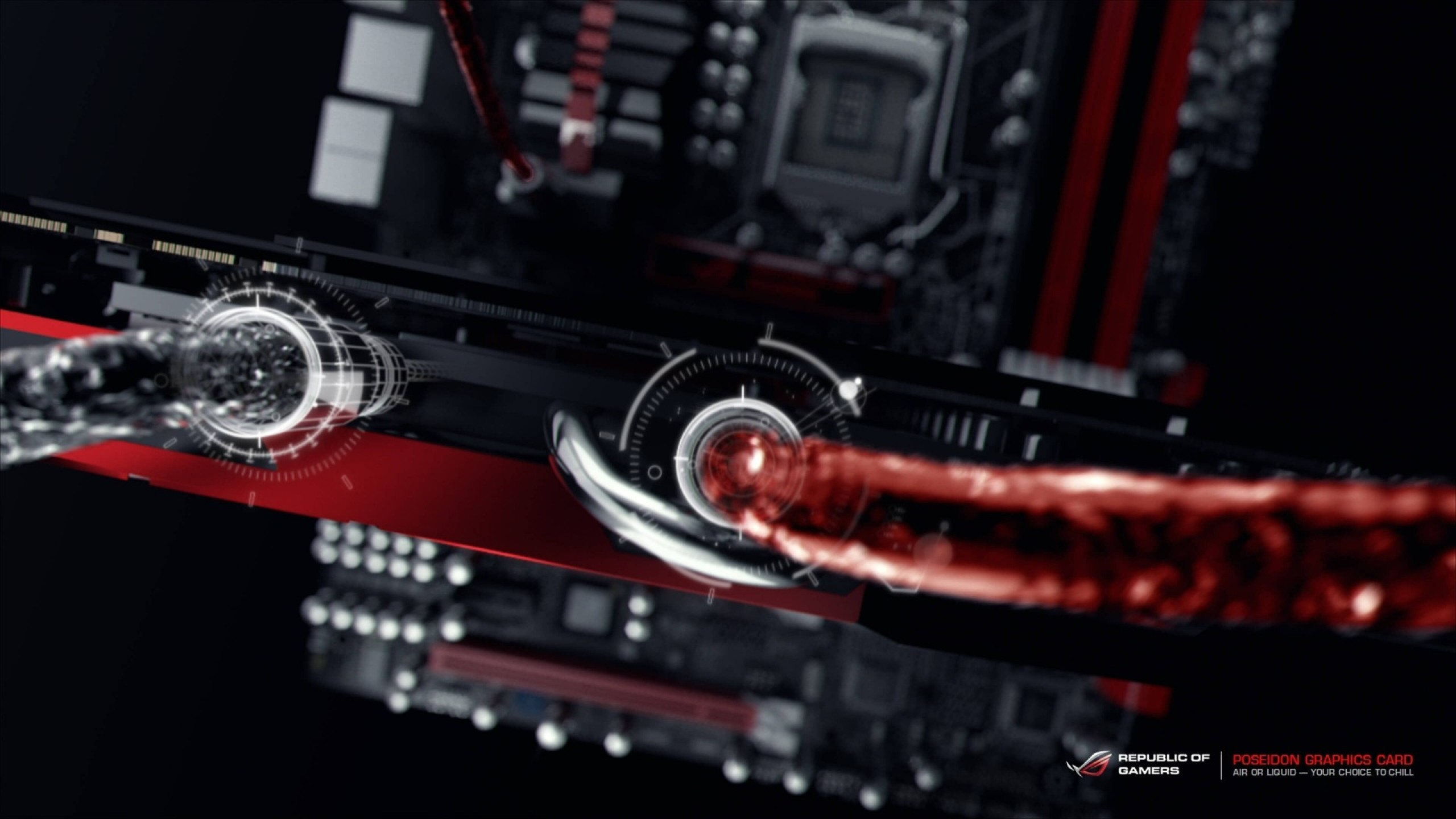 2560x1440  Wallpaper asus, asus rog, pc gaming