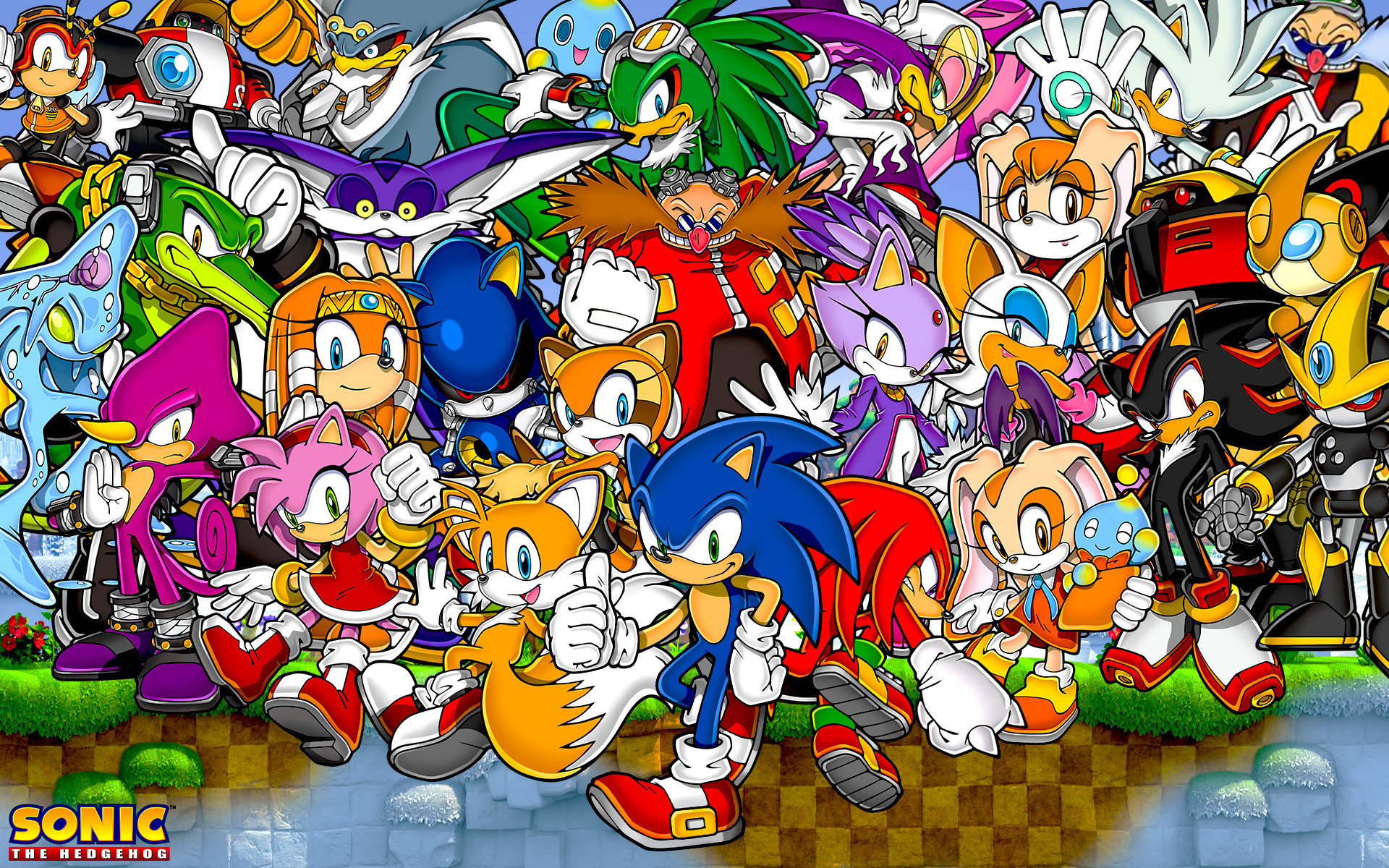 1920x1200 Super Sonic And Super Shadow And Super Silver Wallpaper