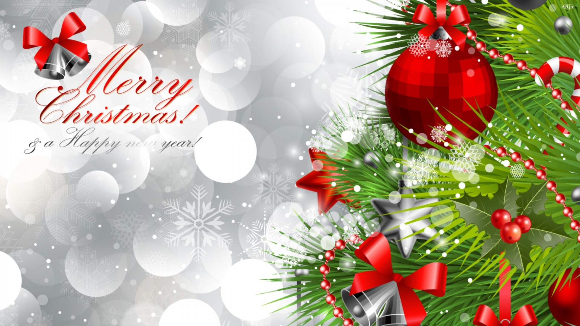 1920x1080 Merry Christmas and Happy New Year Wallpaper Full HD.