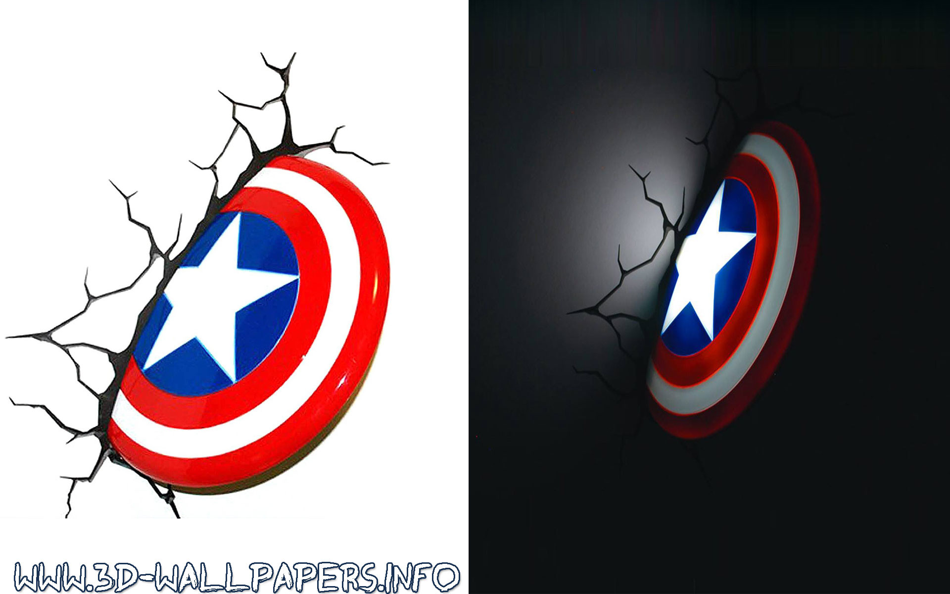 1920x1200 Captain America Shield 3D Deco Light