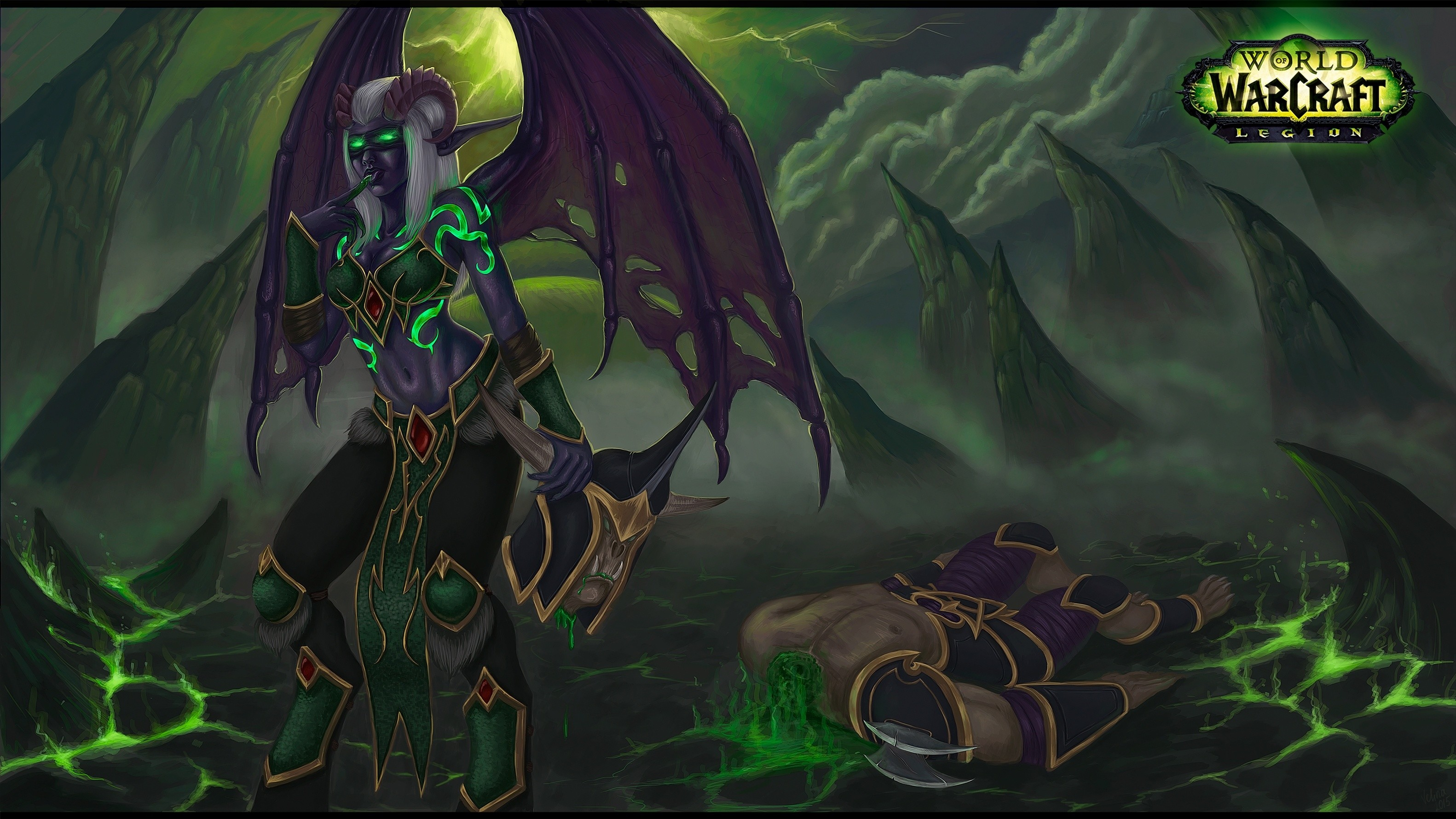 Demon Hunter Fantasy Art