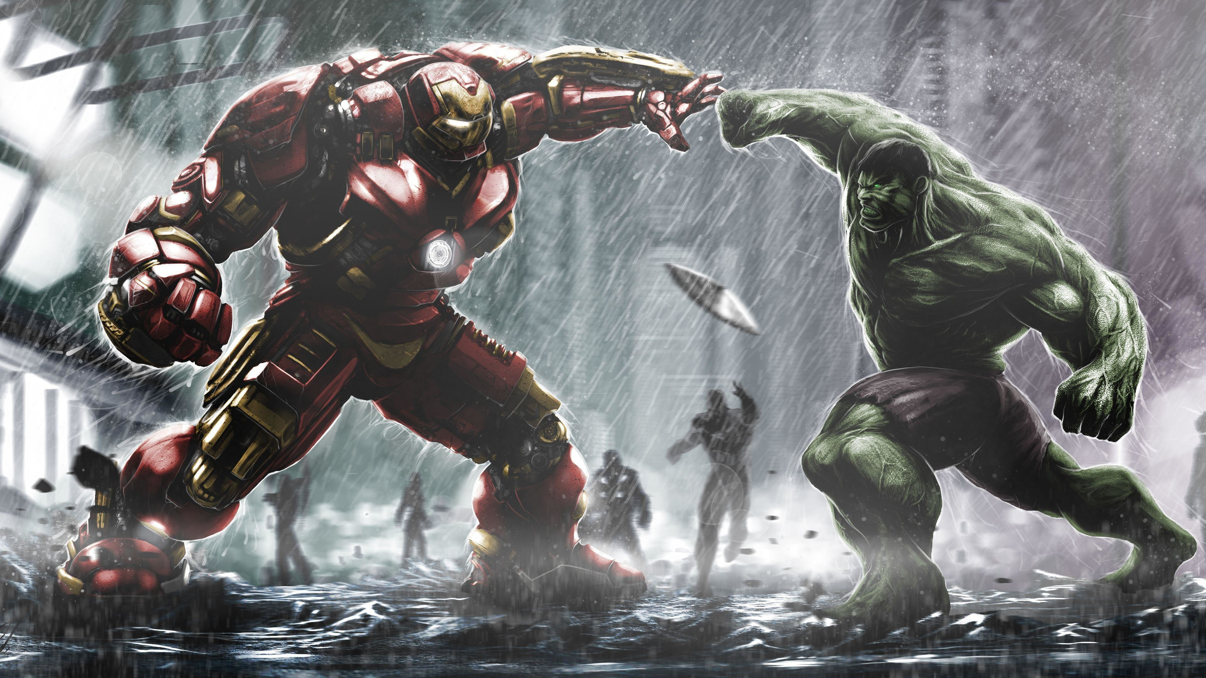 hulk vs hulkbuster wallpapers (73+ images)