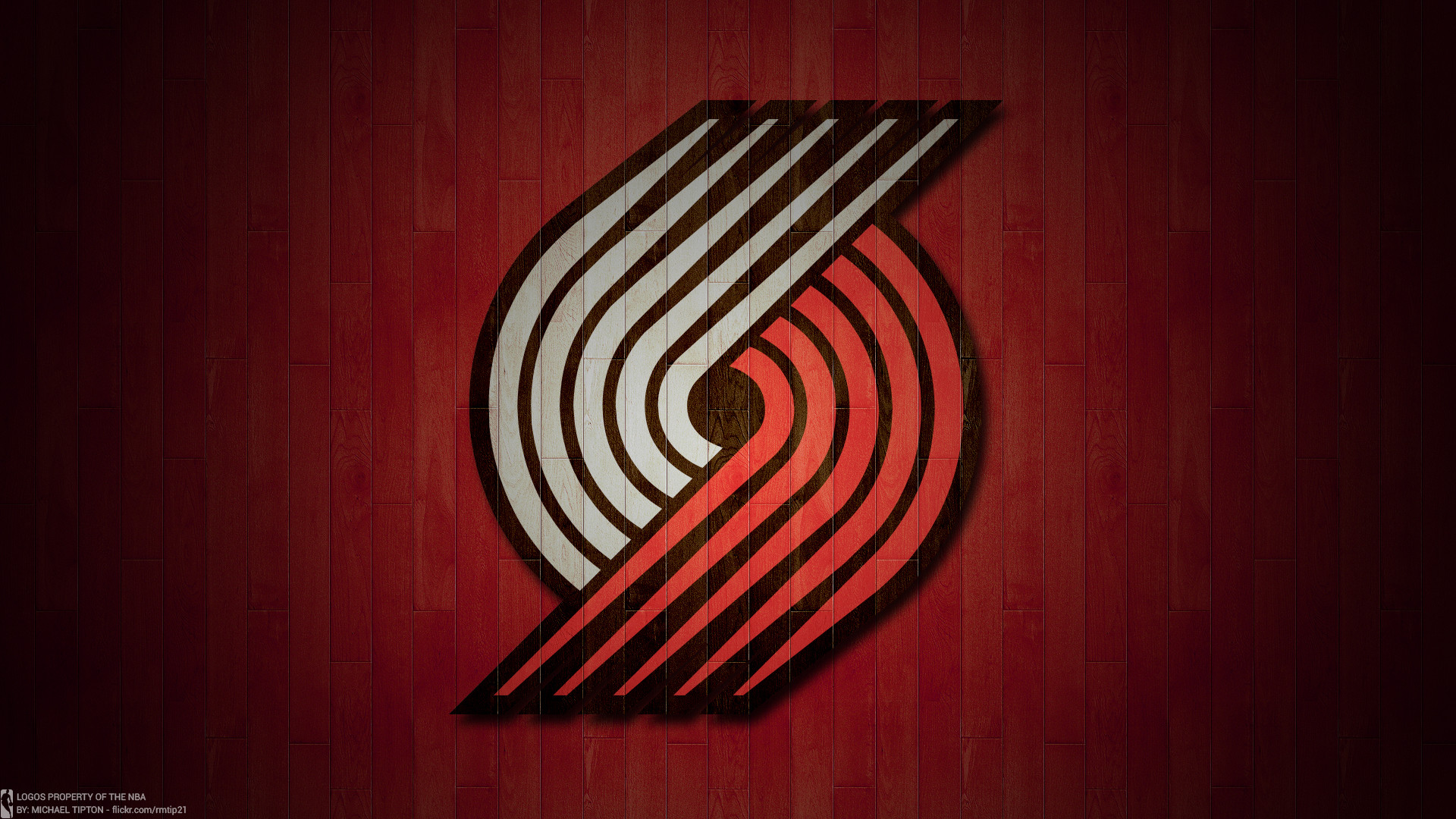 1920x1080 ... NBA 2017 Portland Trail Blazers hardwood logo desktop wallpaper