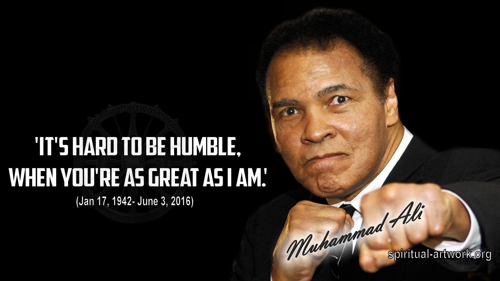 1920x1080 Muhammad Ali- Its Hard to be Humble when you're as great as I