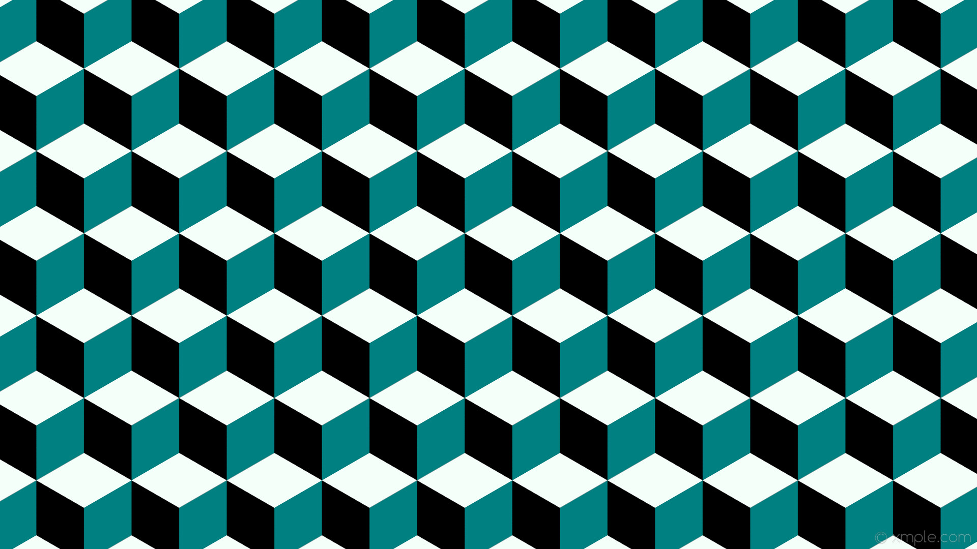 1920x1080 wallpaper white 3d cubes green black teal mint cream #000000 #008080  #f5fffa 120