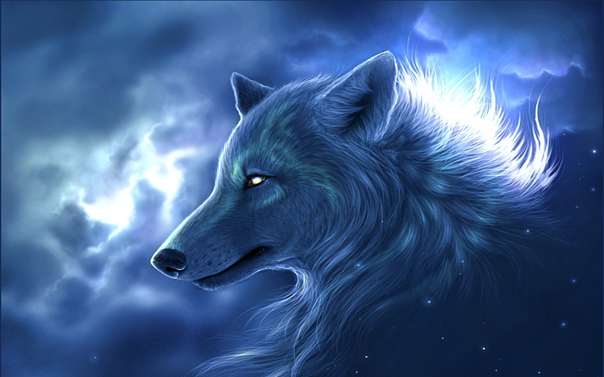 2560x1600 <b>Lightning Wolf Wallpaper ...