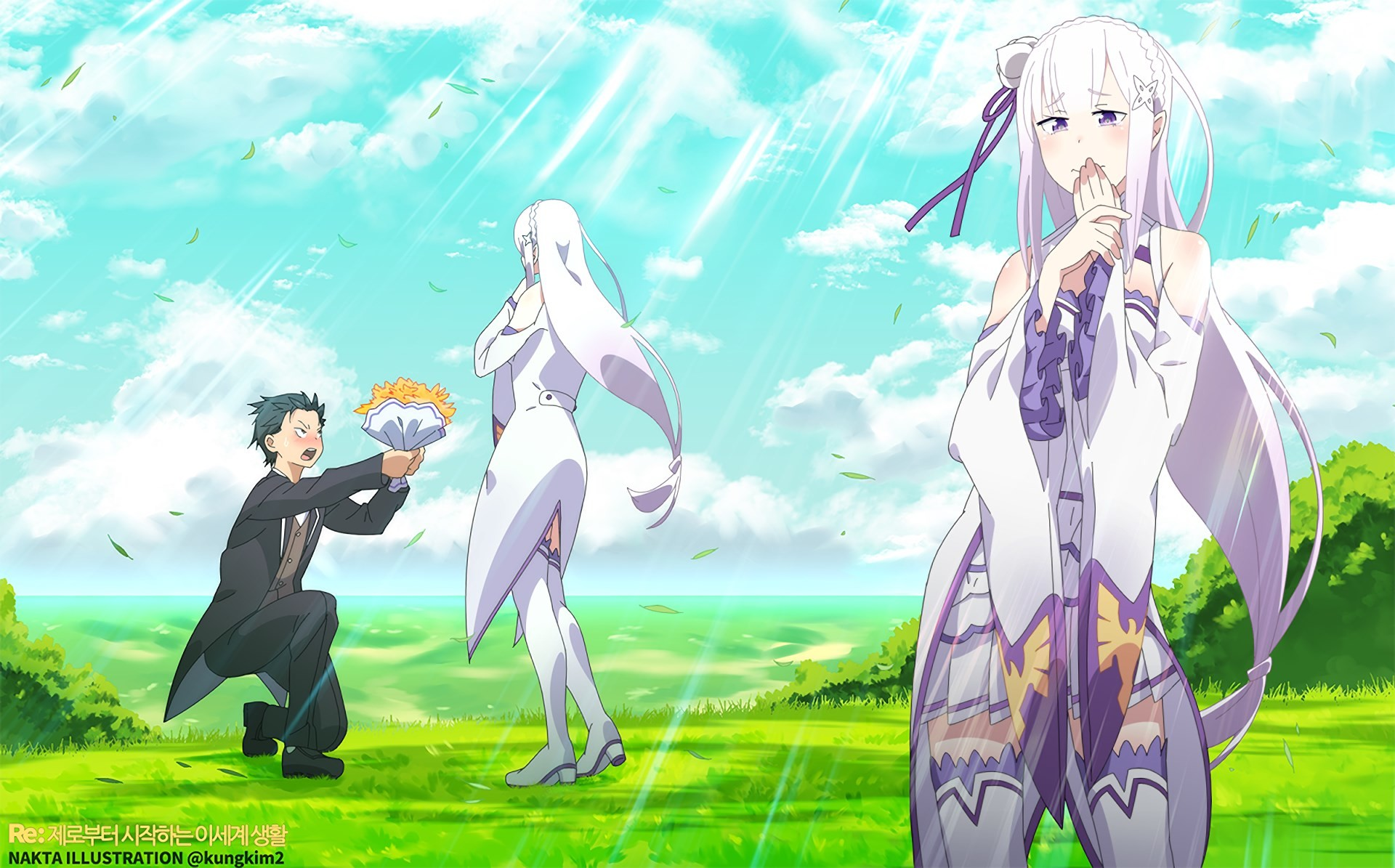 1920x1195 rezero starting life in another world wallpaper: High Definition Backgrounds  - rezero starting life in