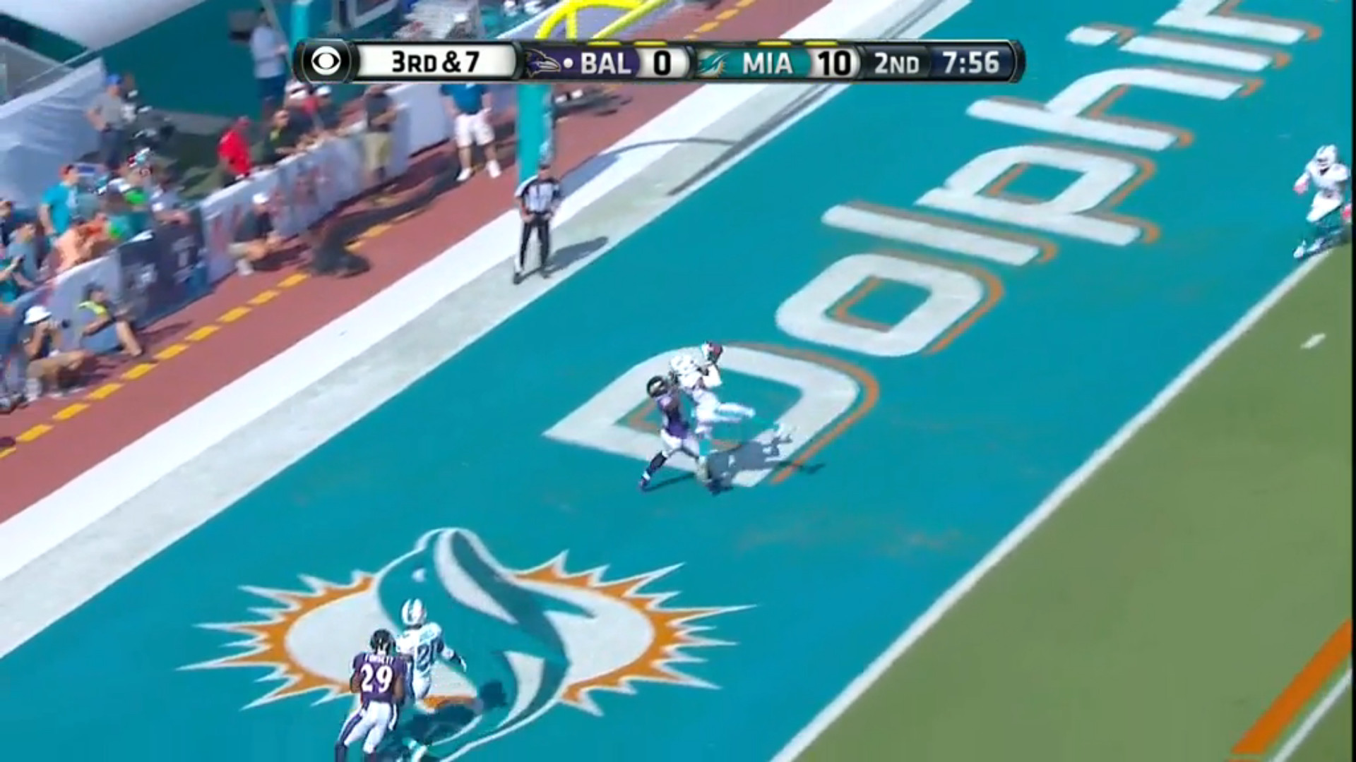 1920x1080 Ravens at Dolphins halftime report: Miami leads 10-7 at midway point