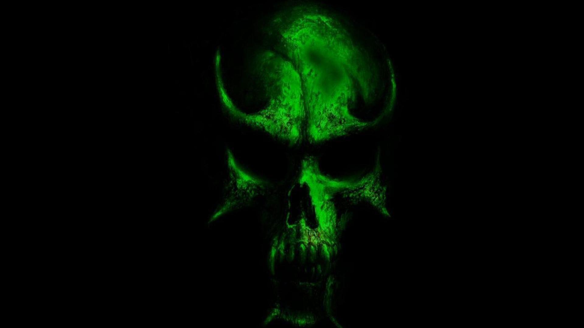 Incredible Neon Skull Wallpaper: Green Skull Wallpaper (53+ Images