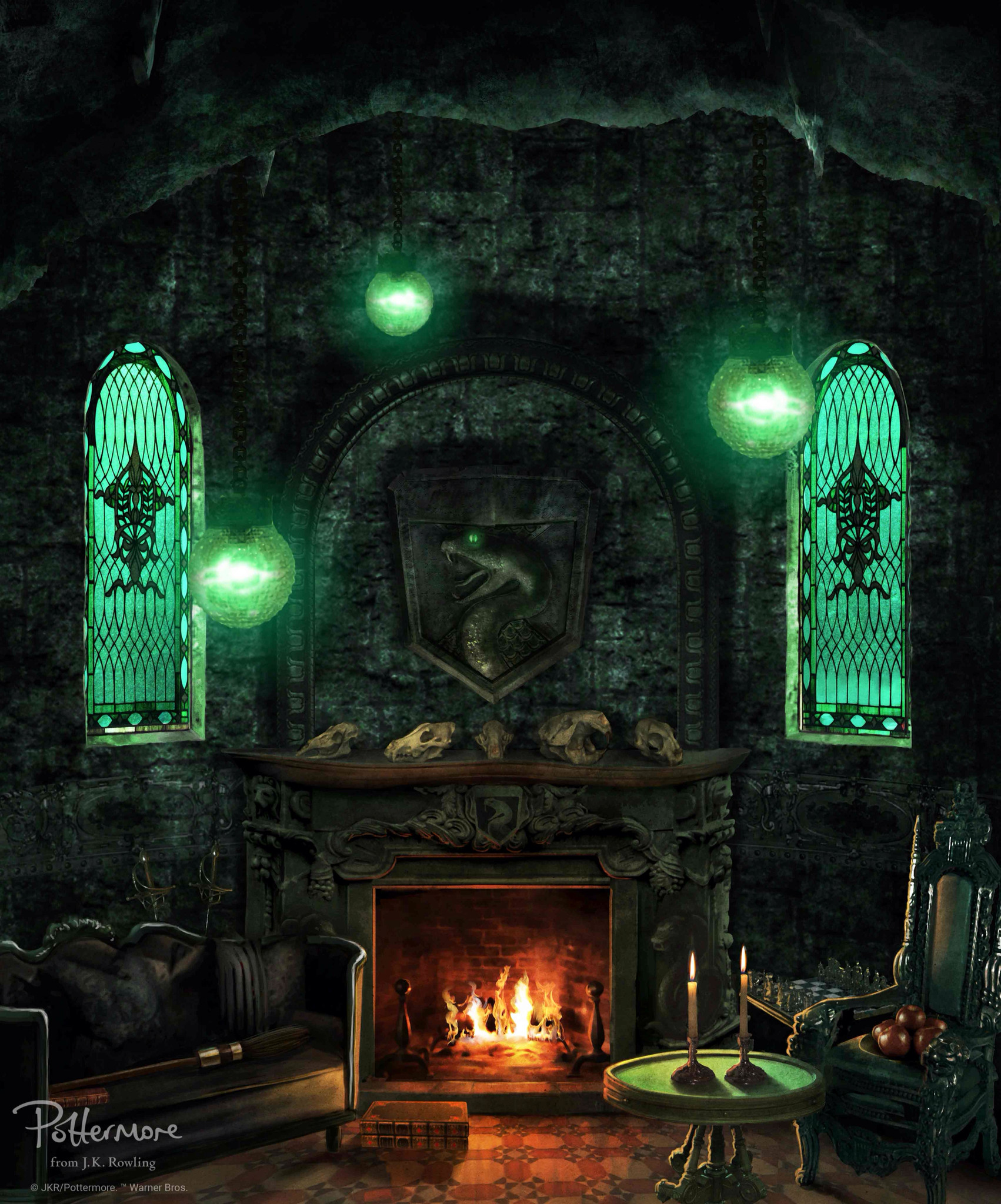 1702x2048 Harry potter · Official slytherin house common room wallpaper