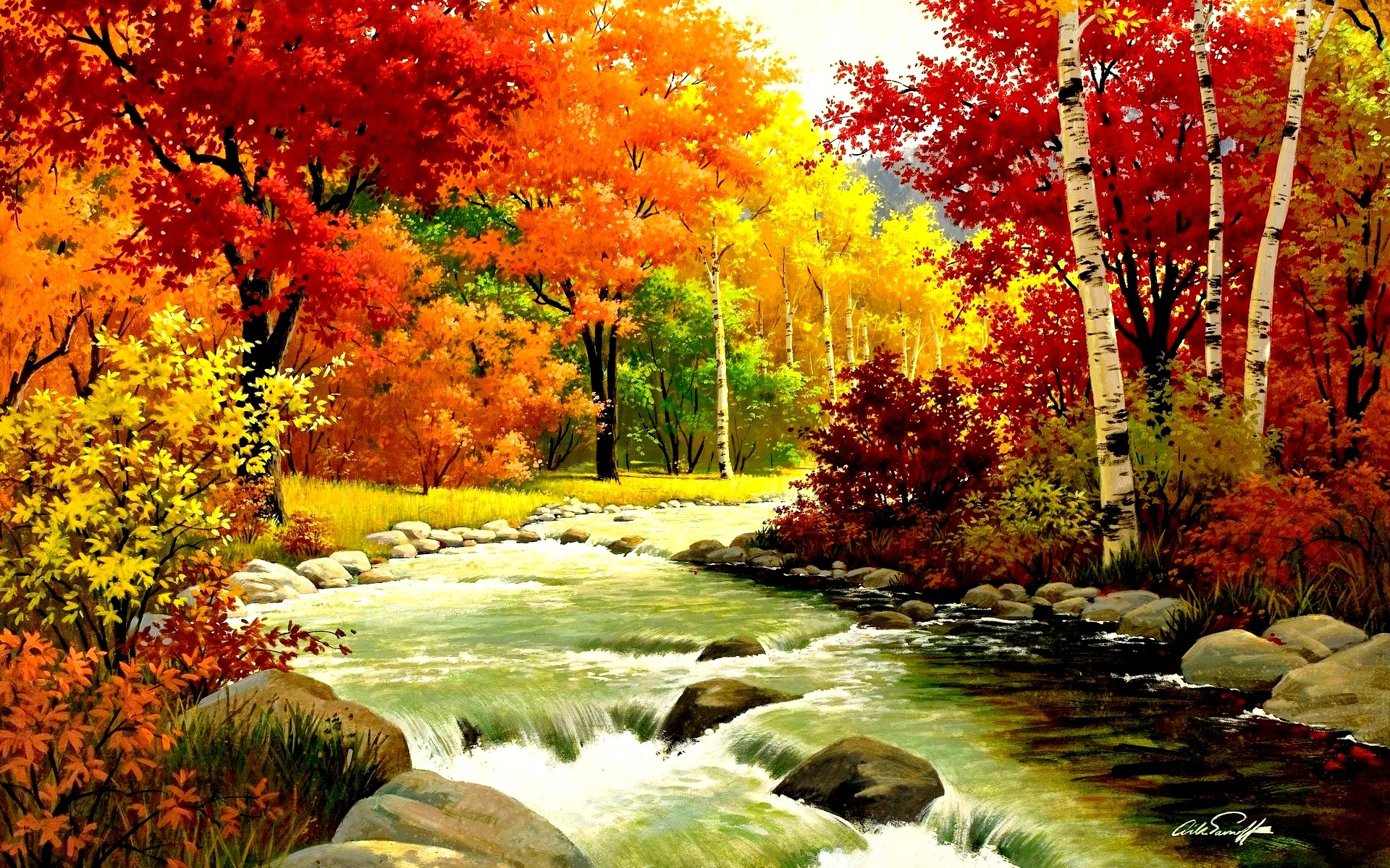 1920x1200 Autumn Fall Wallpapers River