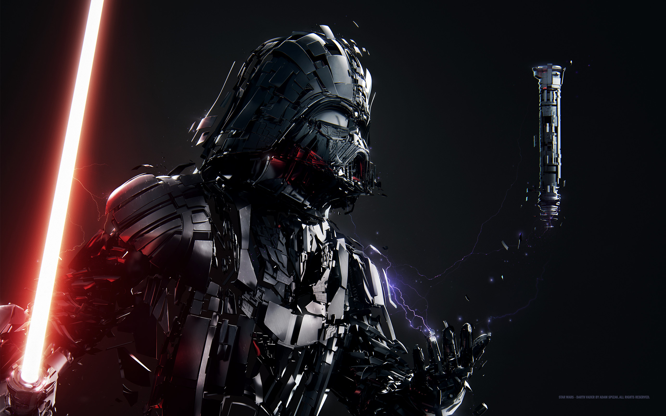 2560x1600 Sci Fi - Star Wars Darth Vader Lightsaber Wallpaper