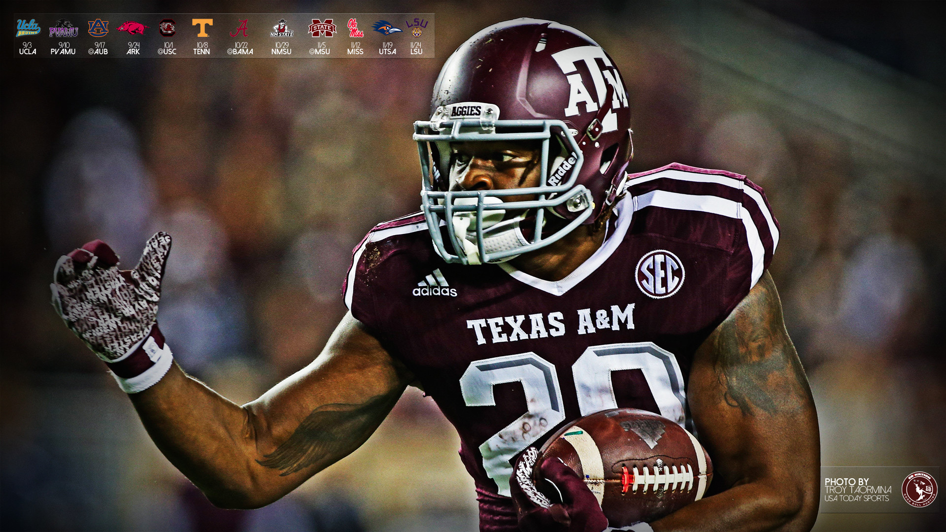 1920x1080 2016 Aggie Football Wallpapers