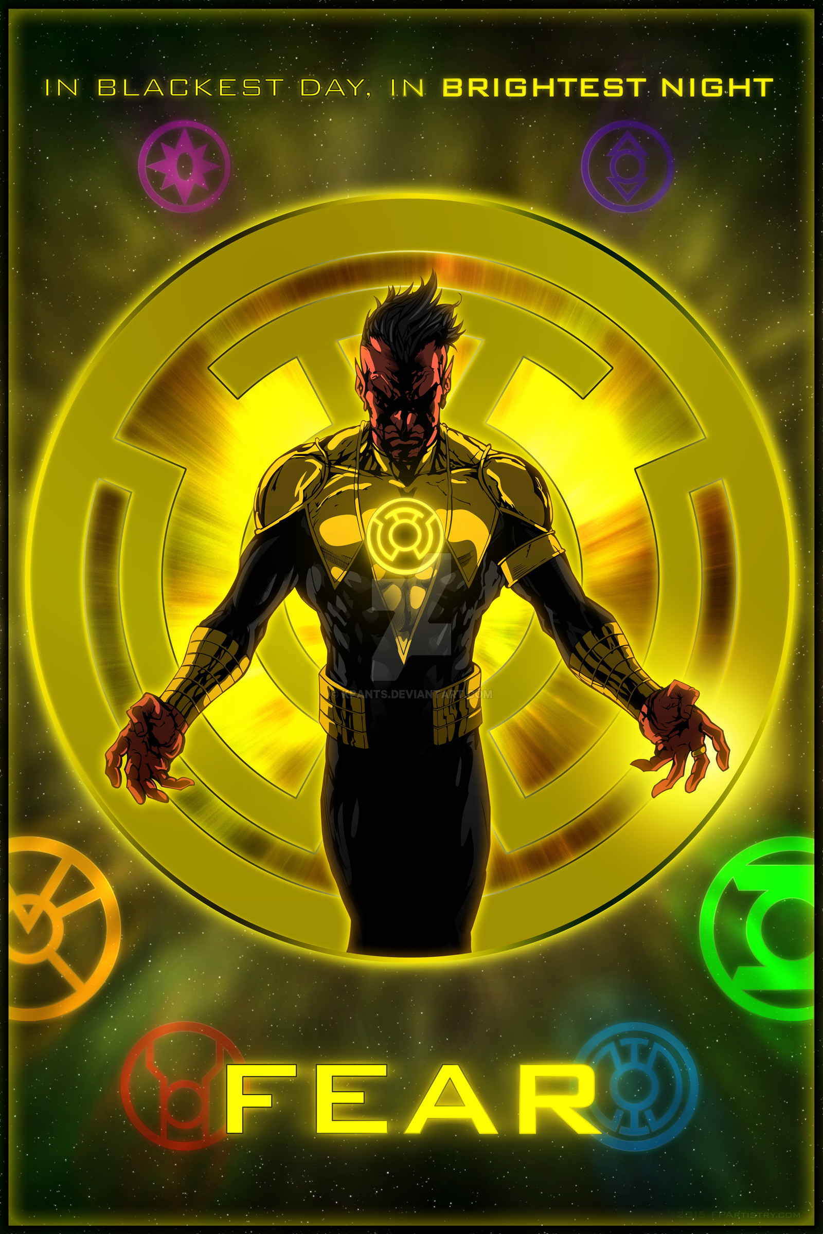 1600x2400 ... The Lantern Corps - Sinestro Corps by KPants
