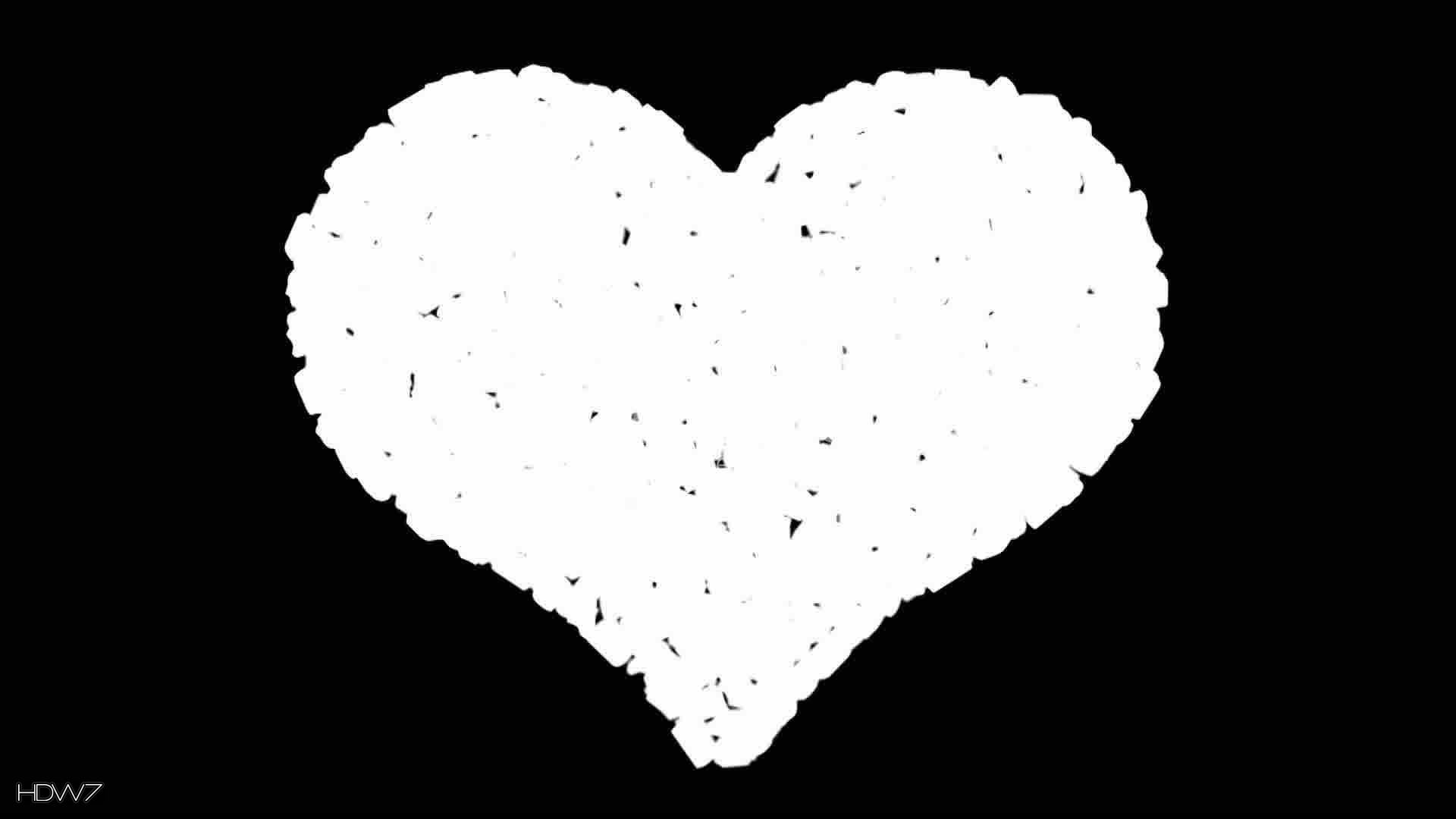 1920x1080 black and white heart wallpaper - photo #10
