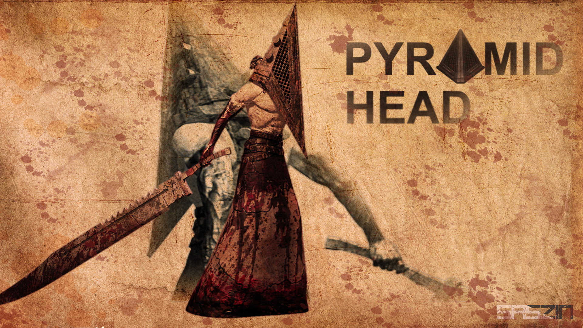 silent hill 2 pyramid head wallpaper