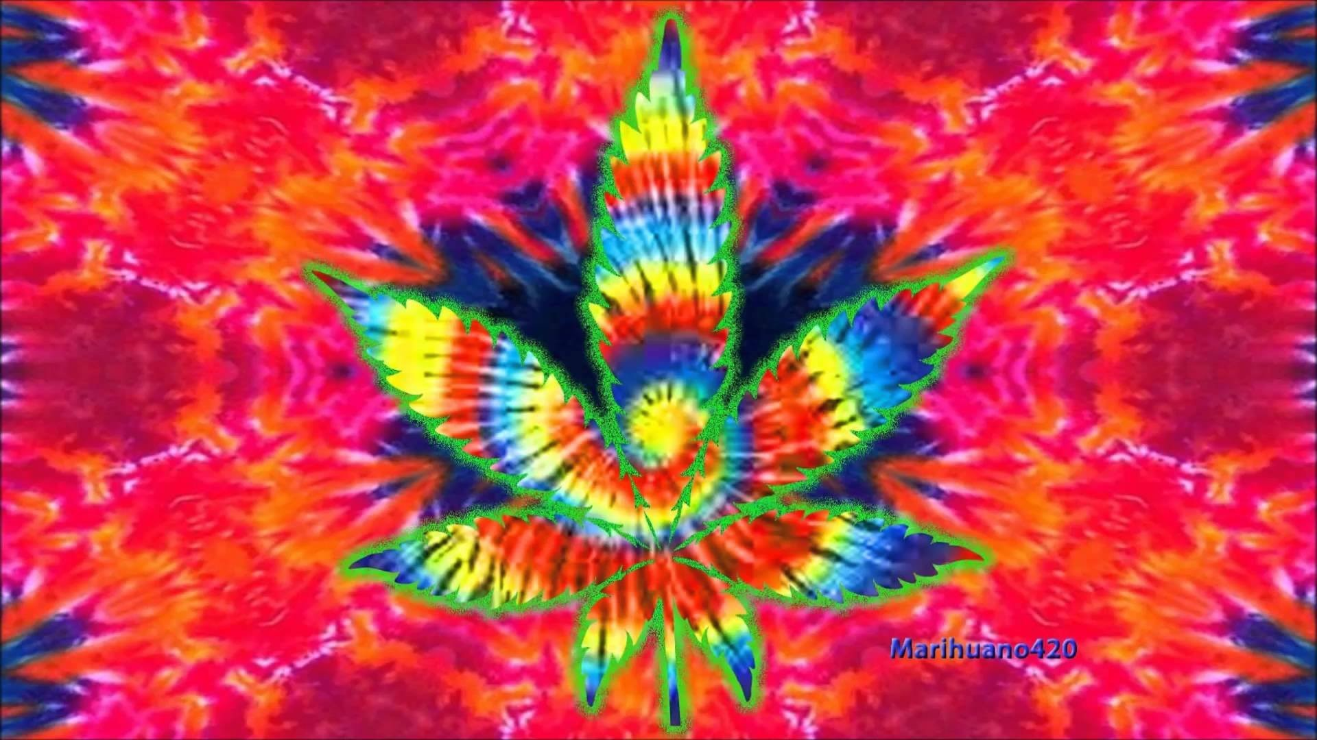 1920x1080 Artistic - Marijuana Artistic Psychedelic Colors Wallpaper
